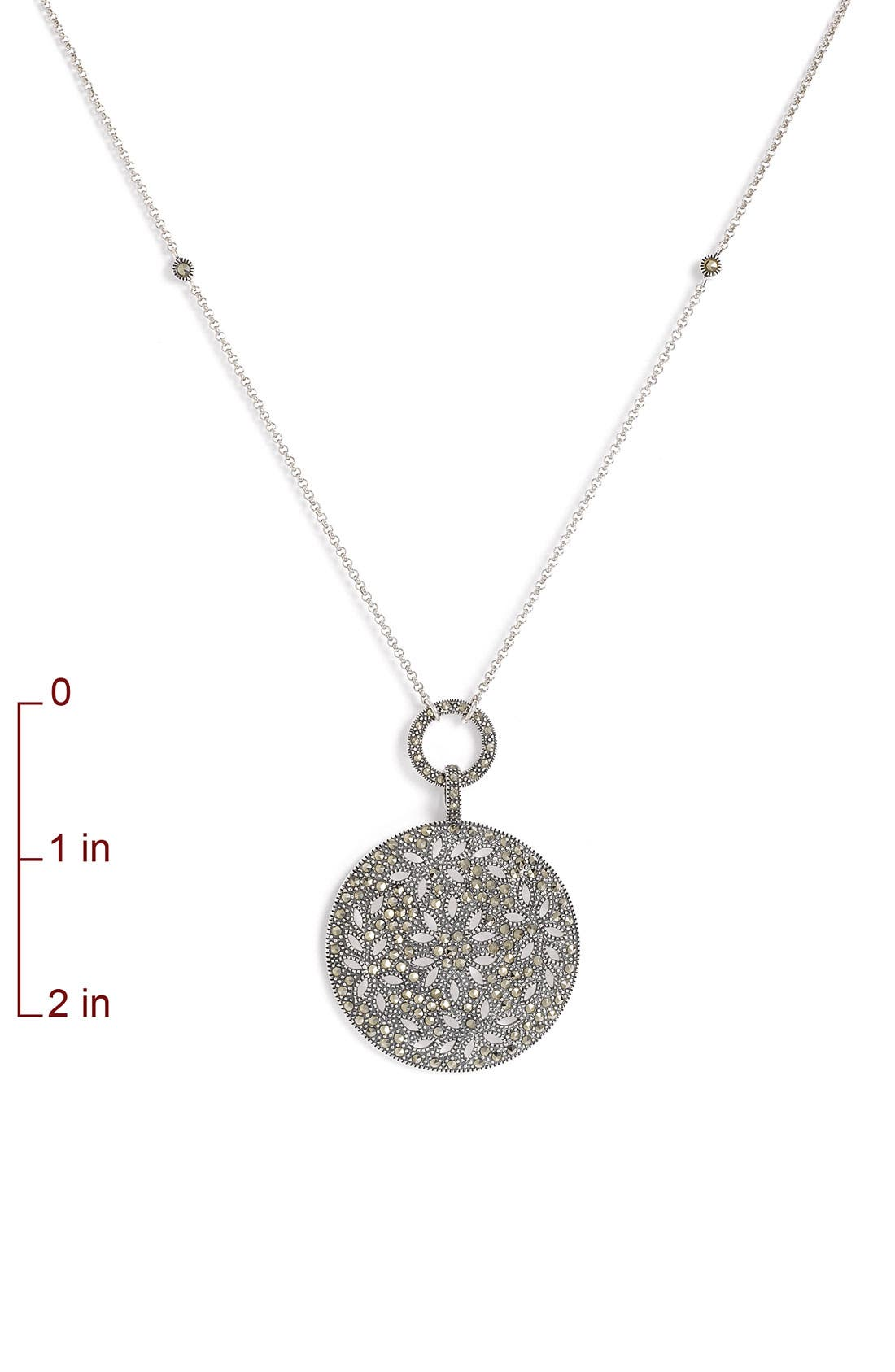 Alternate Image 2  - Judith Jack Round Pendant Convertible Necklace