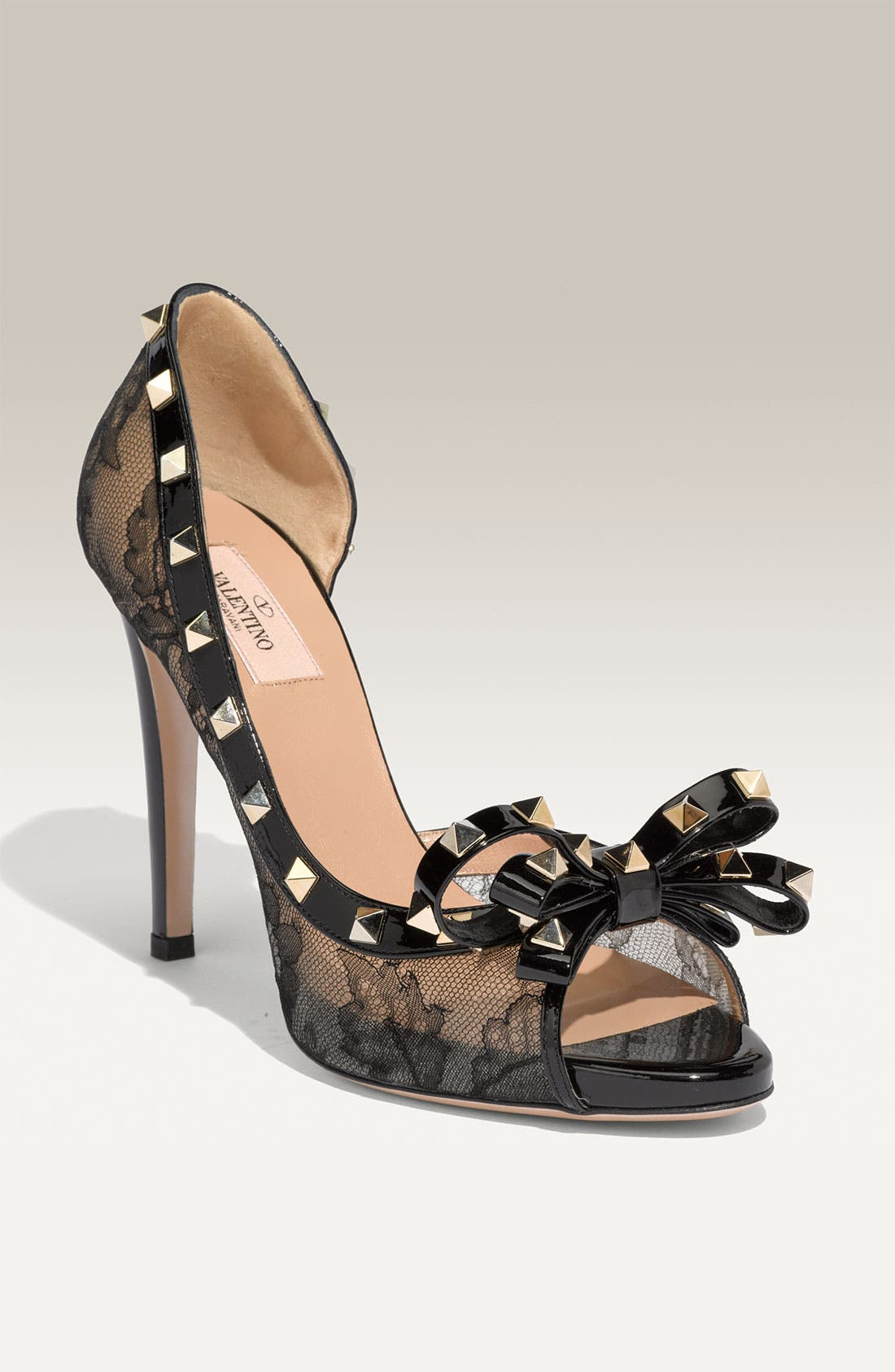 Alternate Image 1 Selected - Valentino 'Rockstud' Lace d'Orsay Pump