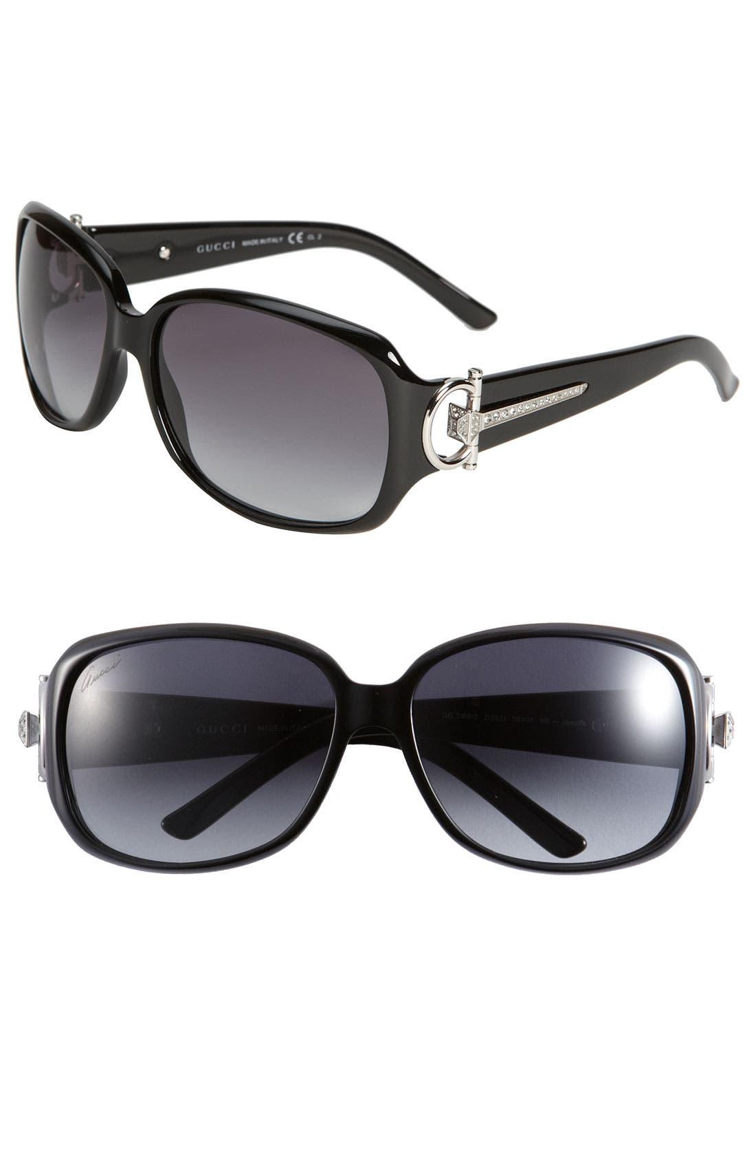Main Image - Gucci 58mm Oversized Square Sunglasses