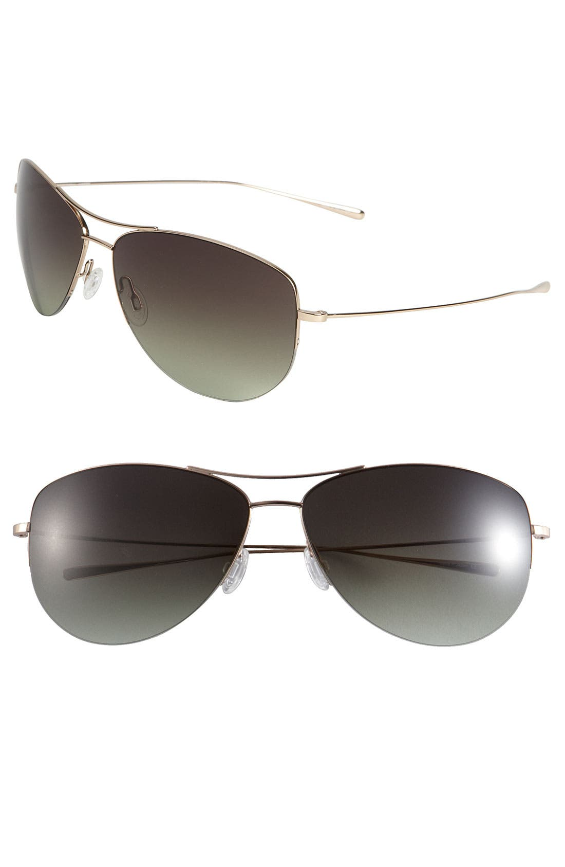 Alternate Image 1 Selected - Oliver Peoples 'Strummer' 63mm Metal Aviator Sunglasses