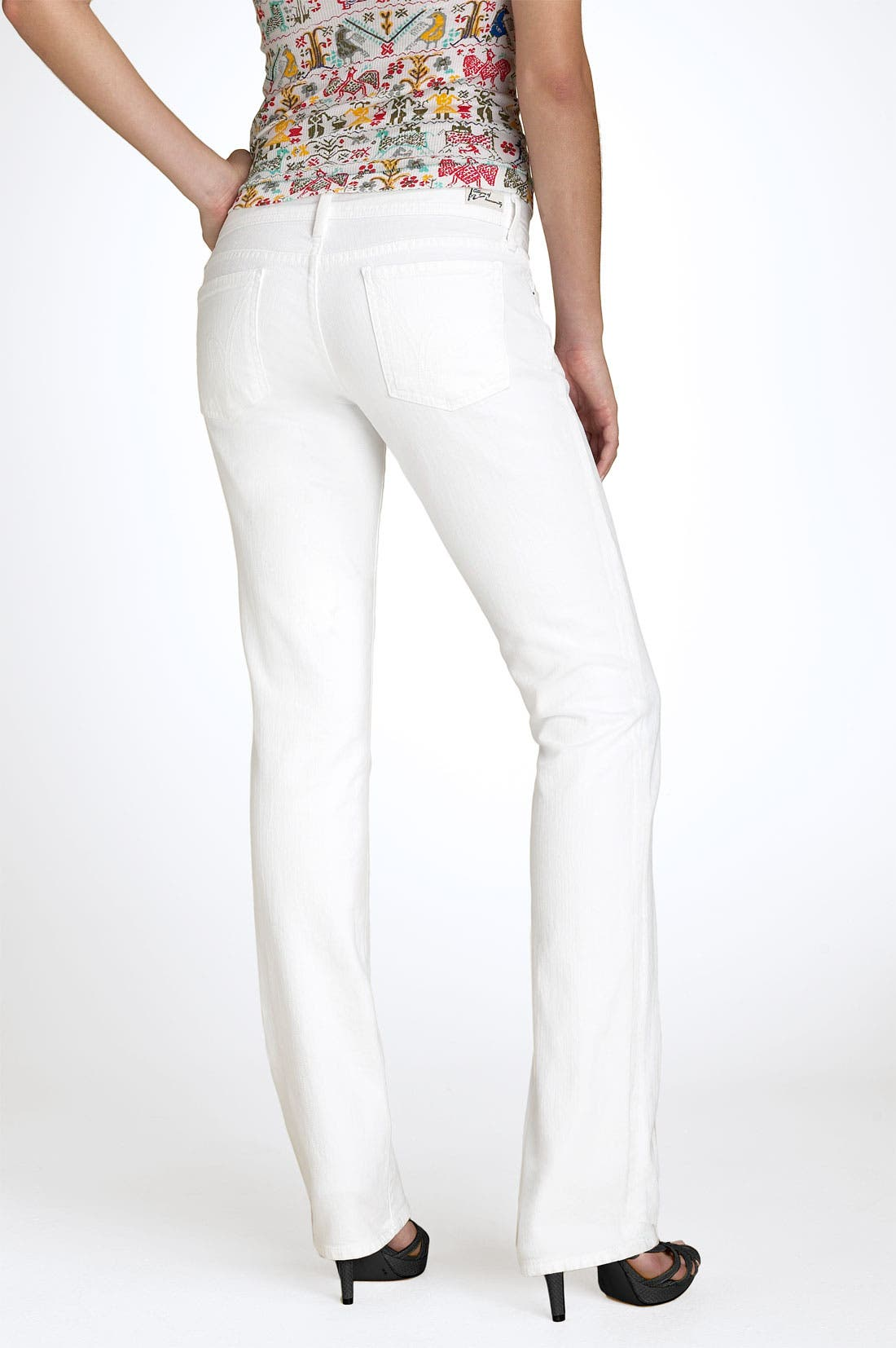 Alternate Image 1 Selected - Citizens of Humanity 'Ava' Straight Leg Stretch Jeans (Santorini White Wash)