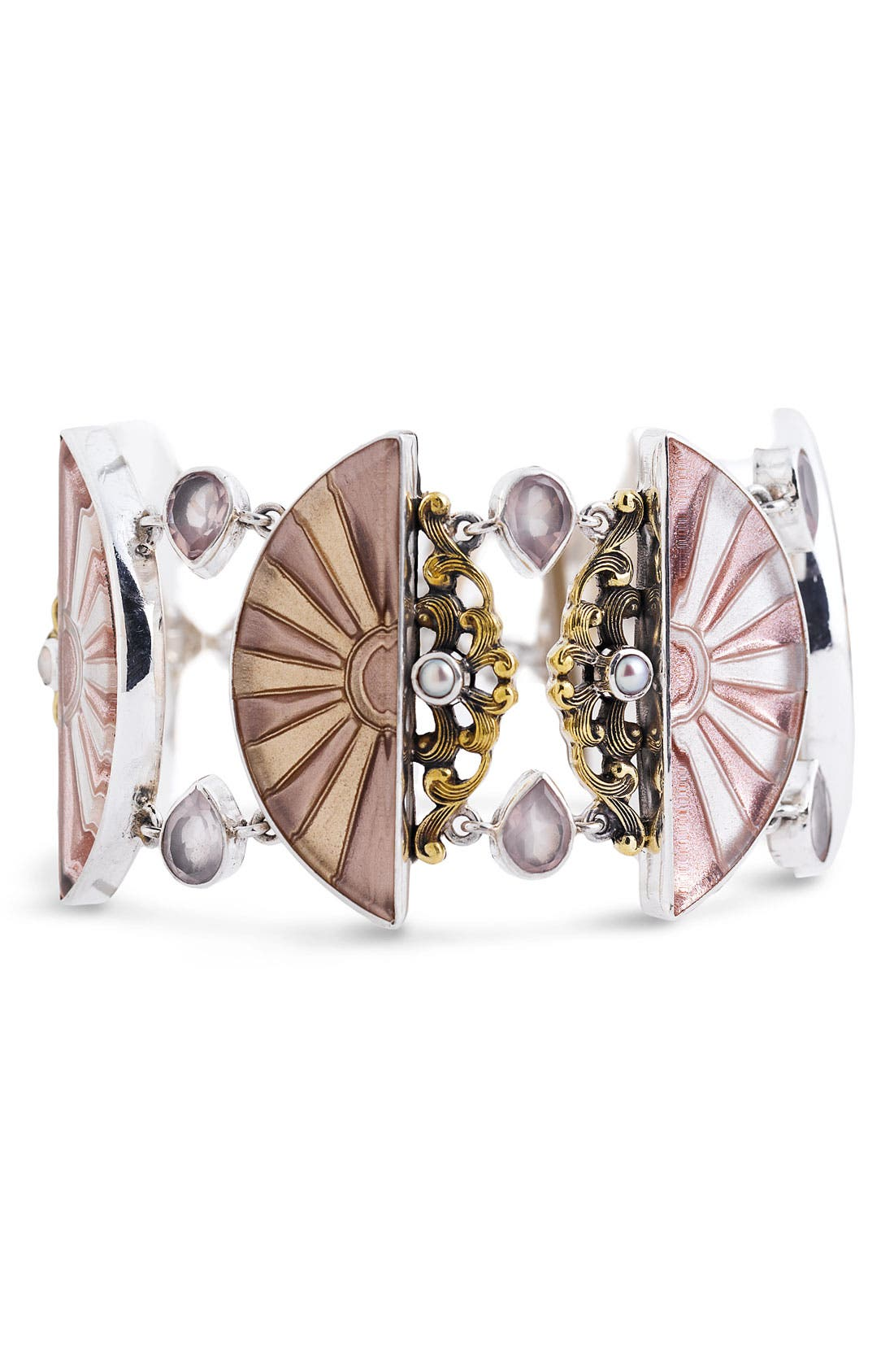 Alternate Image 1 Selected - Mars and Valentine 'Love & Happiness' Fan Bracelet (Nordstrom Exclusive)