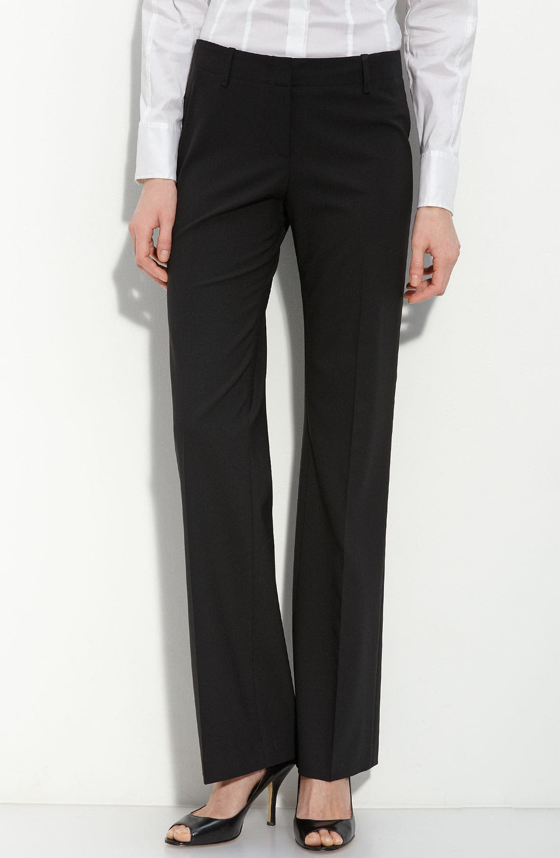 Alternate Image 1 Selected - BOSS 'Tulia' Tropical Wool Trousers