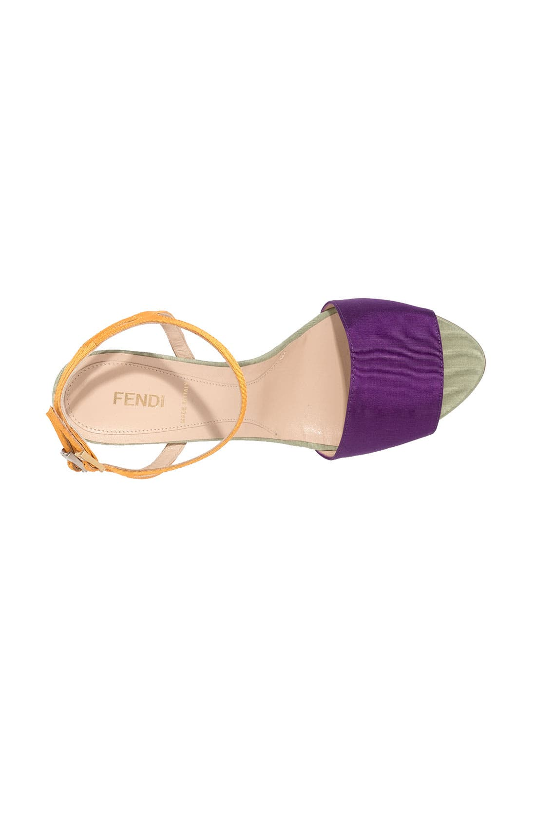 Alternate Image 3  - Fendi Colorblock Grosgrain Sandal