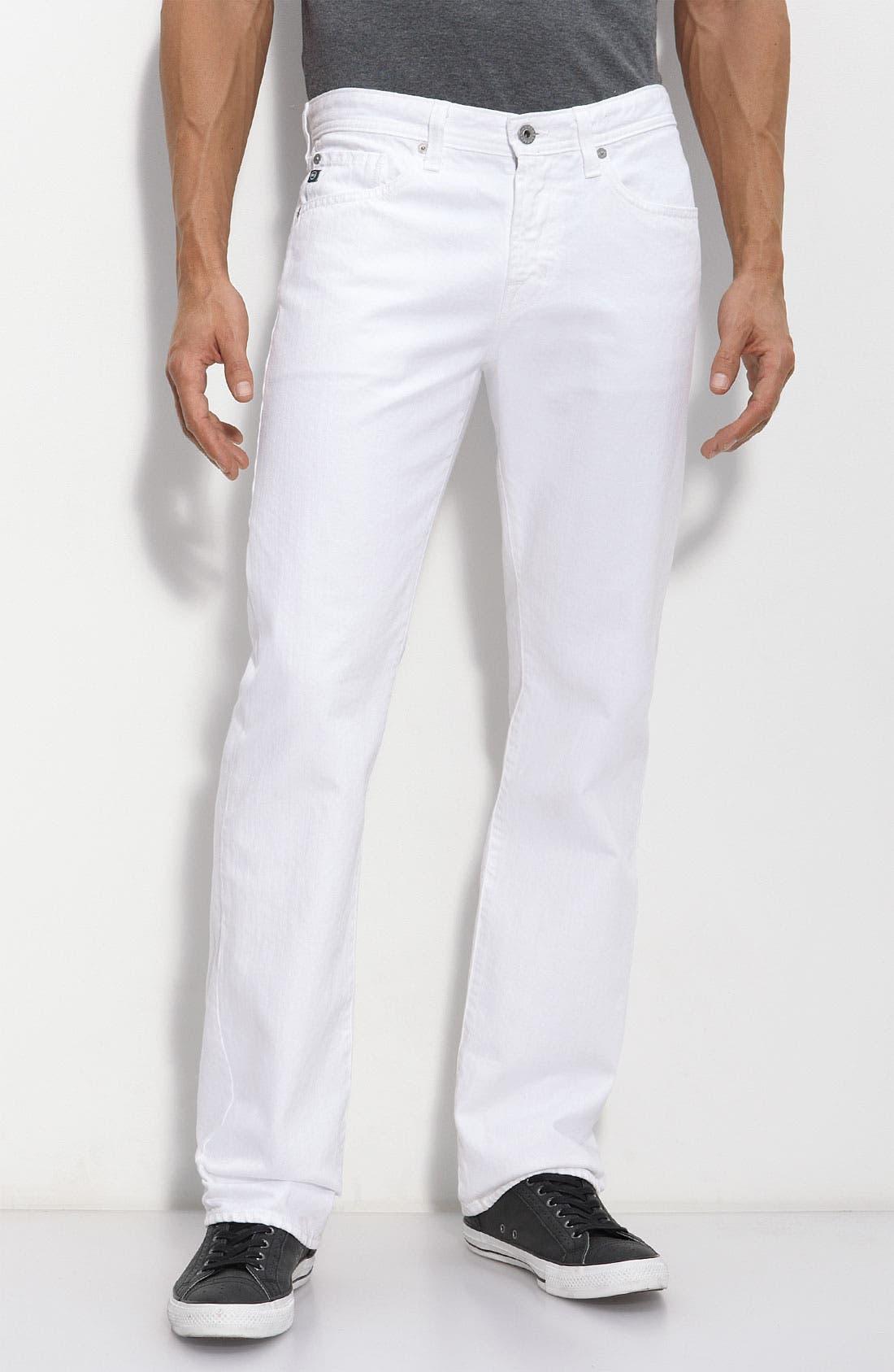 Alternate Image 1 Selected - AG Jeans 'Protégé' Straight Leg Jeans (White Wash)