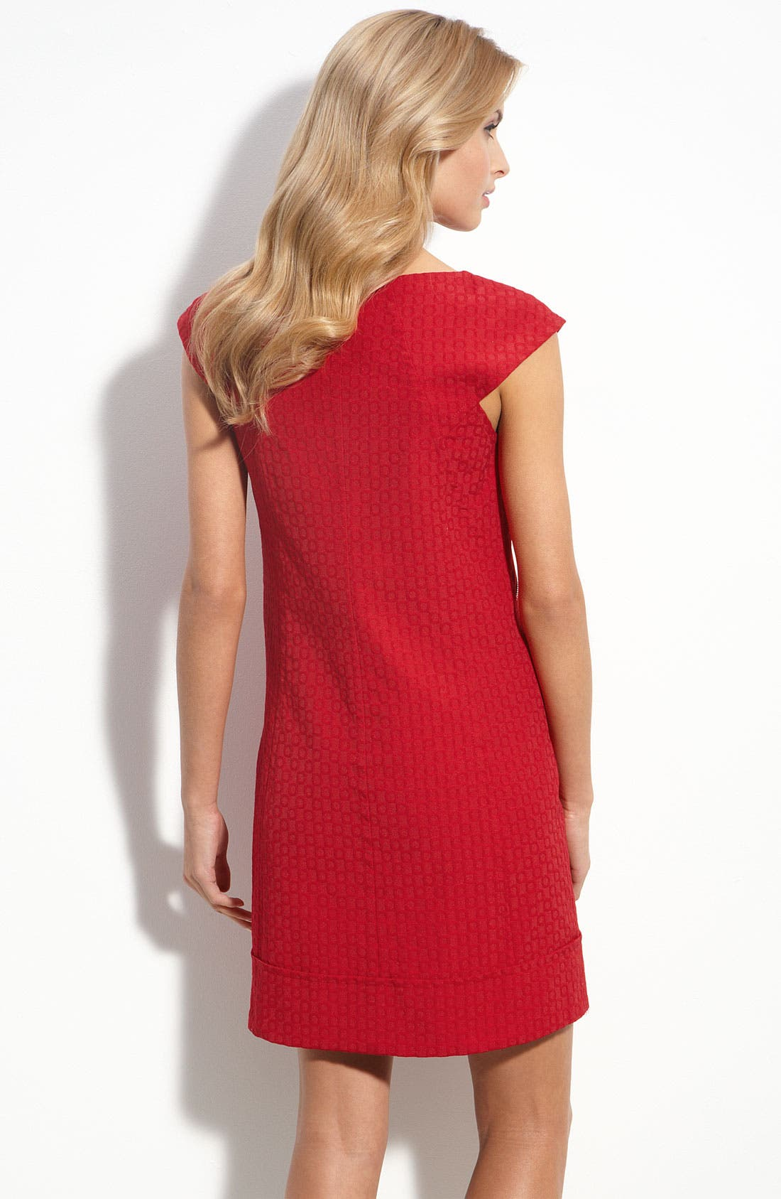 Alternate Image 2  - Maggy London Zip Trim Jacquard Shift Dress