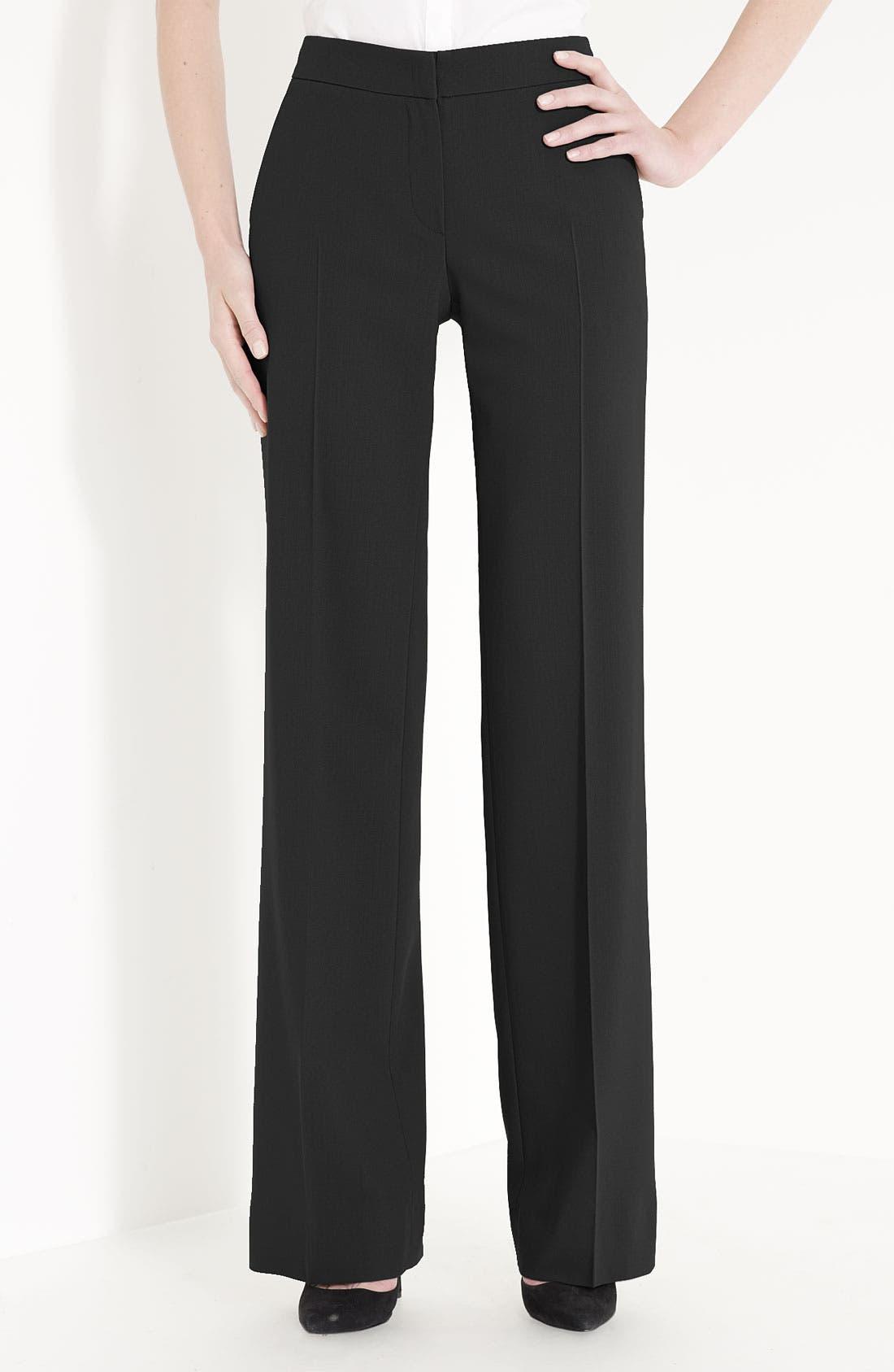 Main Image - Armani Collezioni Featherweight Wool Pants