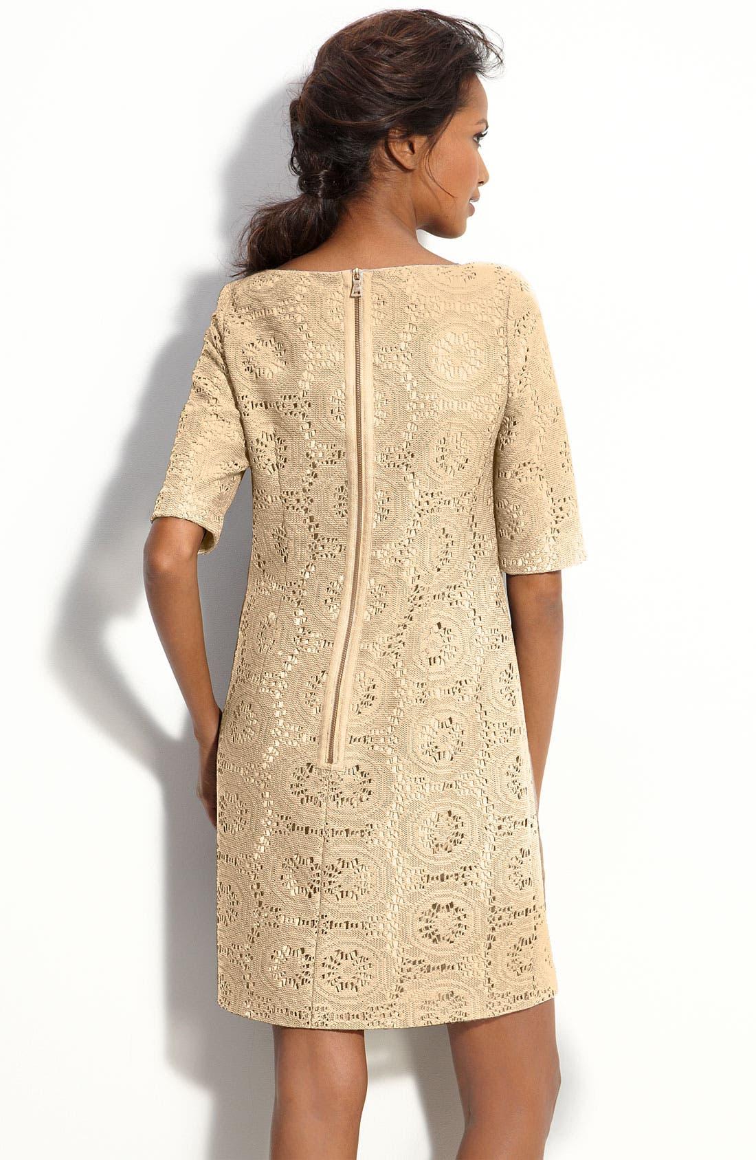 Alternate Image 2  - Adrianna Papell Lace Shift Dress (Petite)