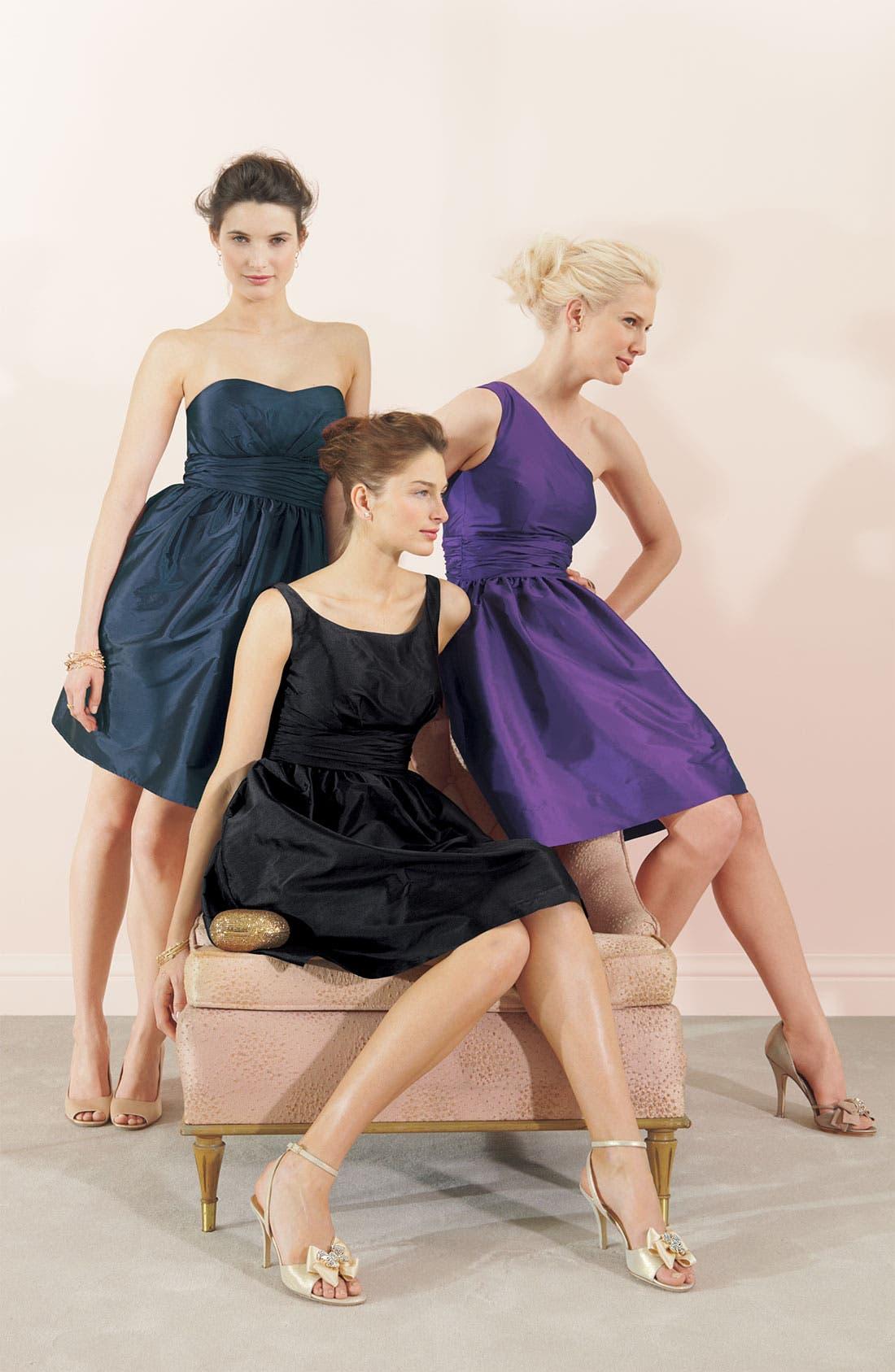 Alternate Image 3  - Eliza J One Shoulder Taffeta Dress