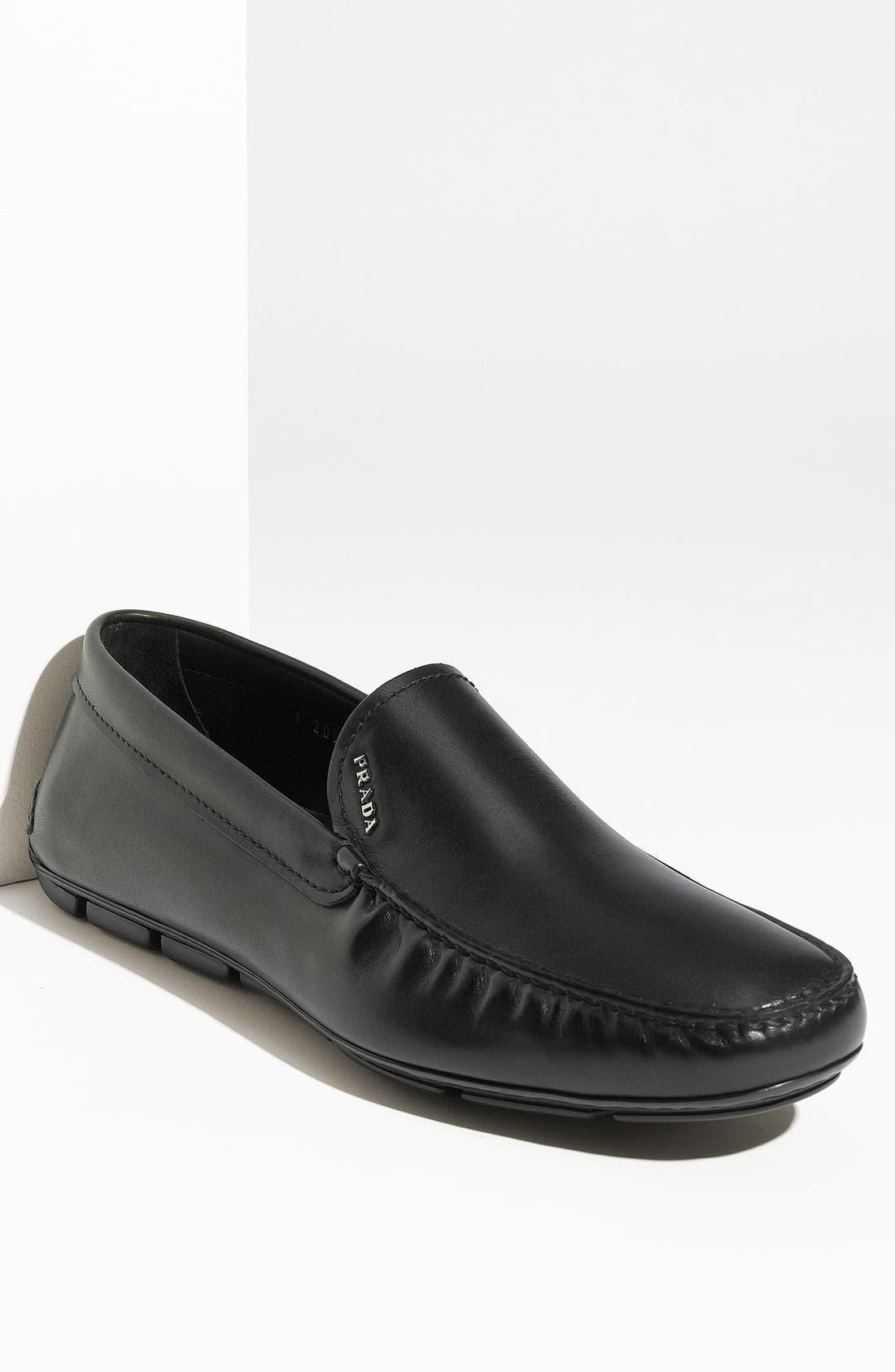 Alternate Image 1 Selected - Prada Leather Driving Shoe (Men)