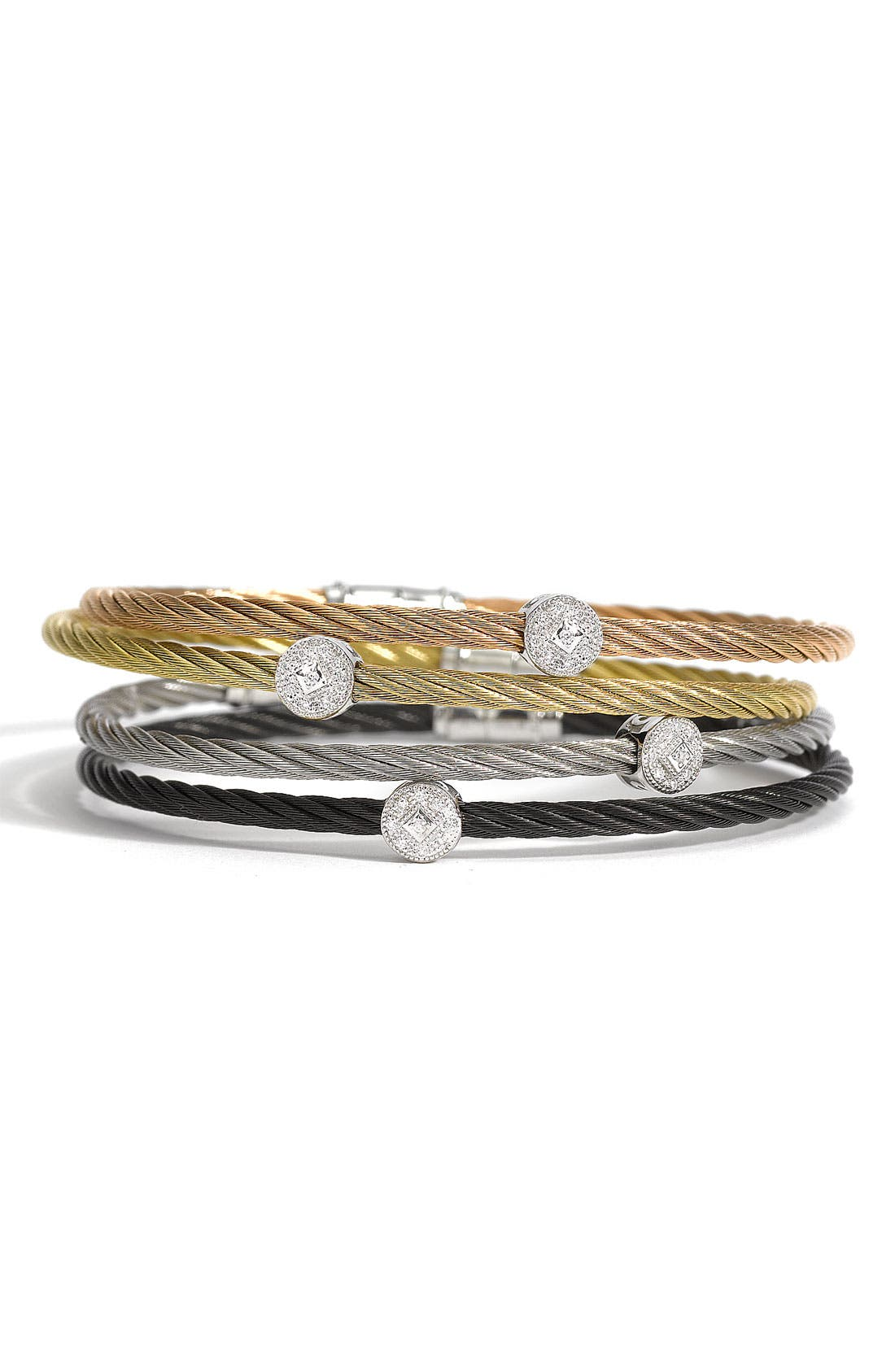 Main Image - ALOR® Diamond Station Bangle