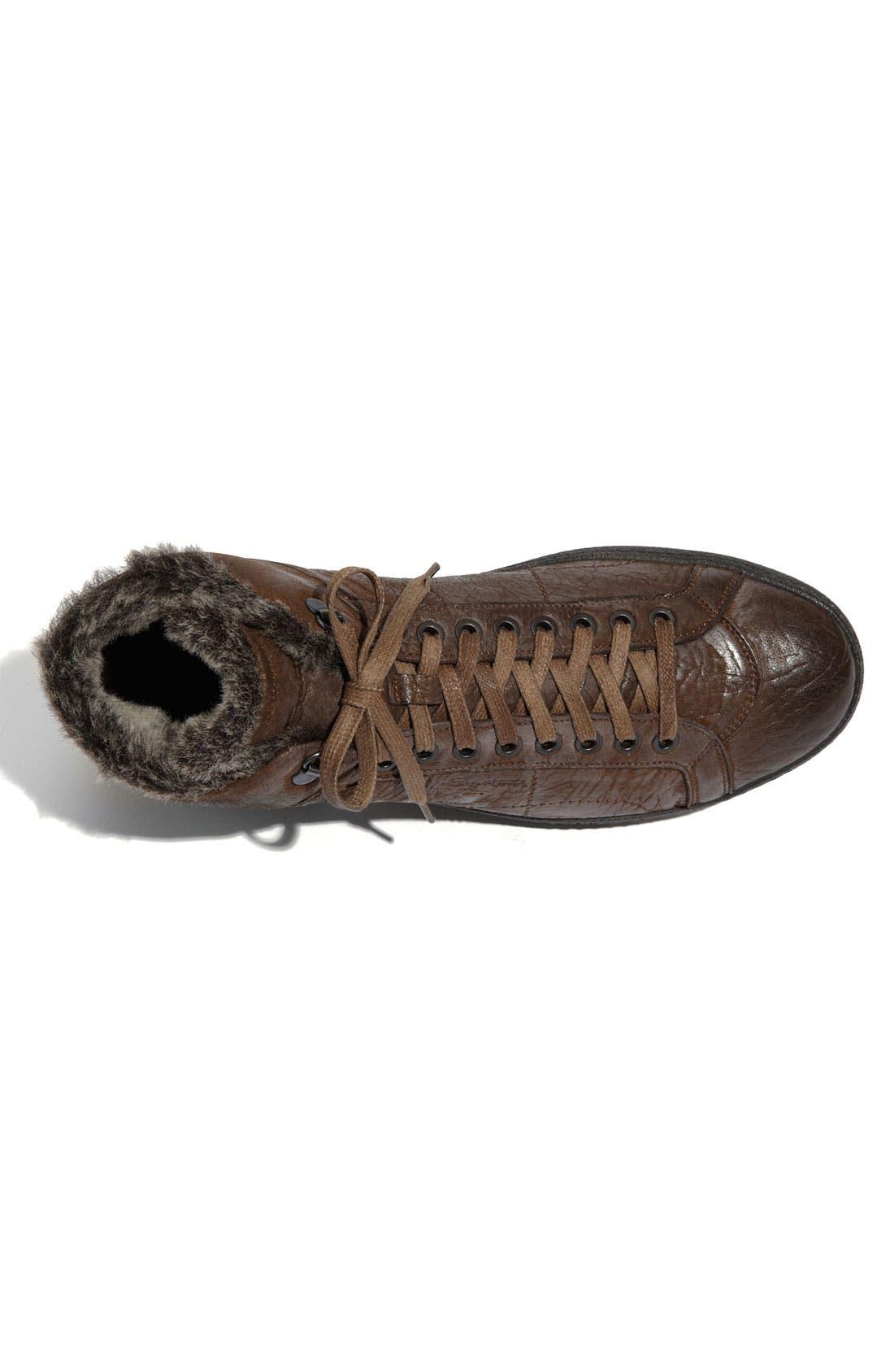 Alternate Image 3  - Santoni 'Dorado' Shearling Trimmed Sneaker