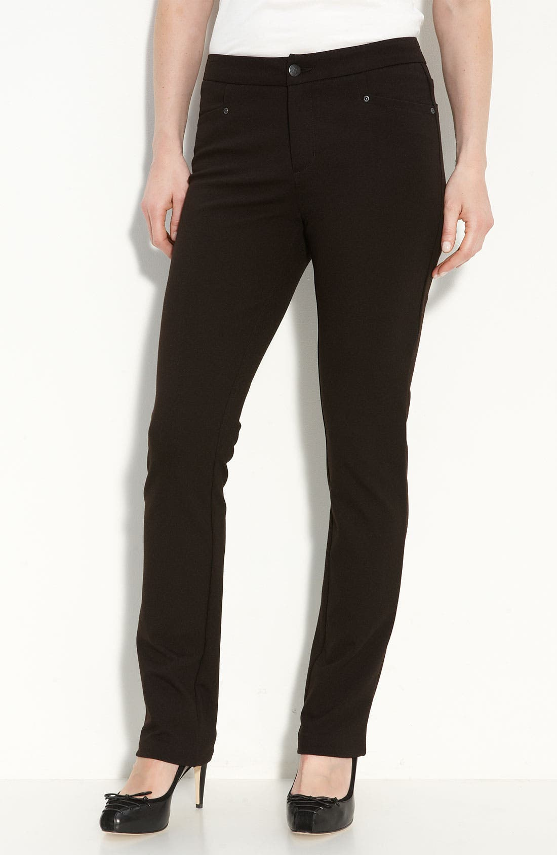 Alternate Image 1 Selected - NYDJ 'Samantha' Stretch Ponte Knit Pants