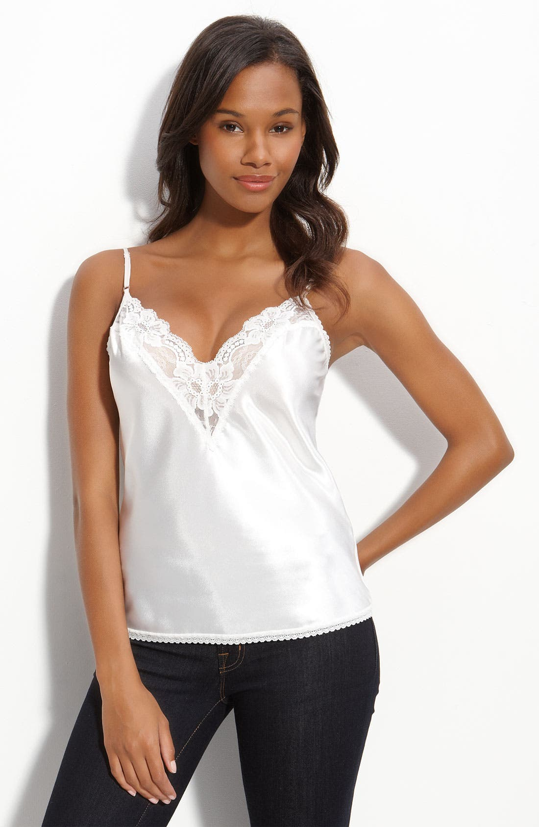 Alternate Image 1 Selected - Farr West Lace Trim Satin Camisole