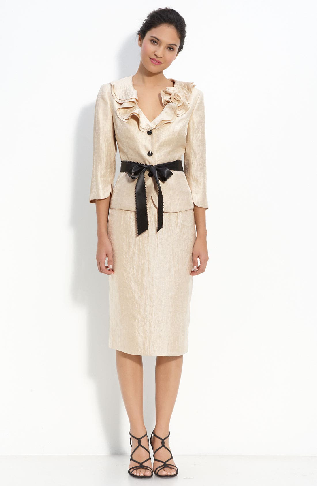Alternate Image 3  - Adrianna Papell Shimmer Crepe Jacket