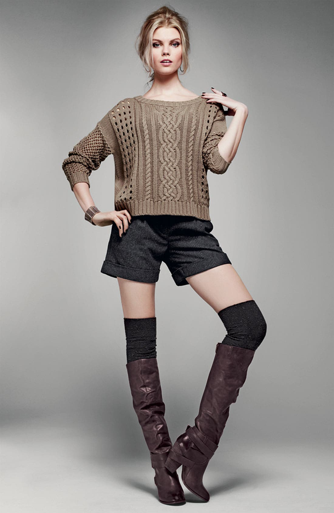 Alternate Image 2  - Trouvé Open Stitch Sweater