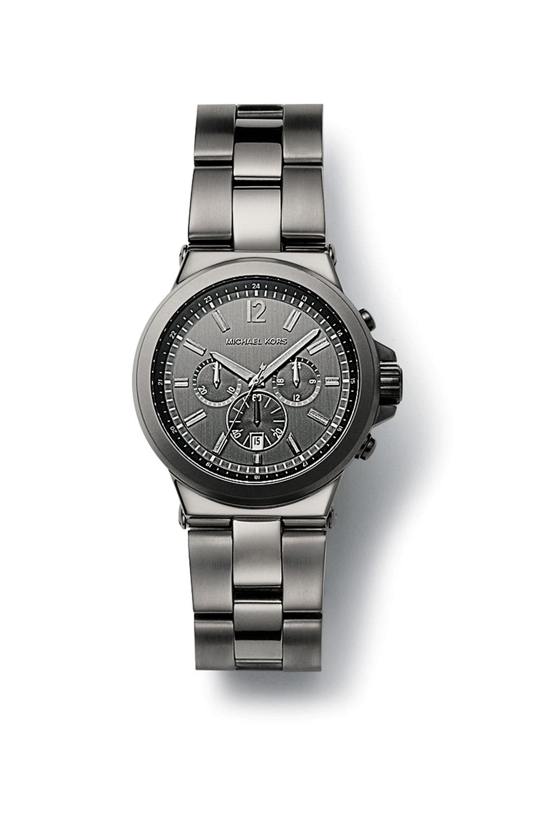 Alternate Image 3  - Michael Kors Large Chronograph Bracelet Watch, 45mm