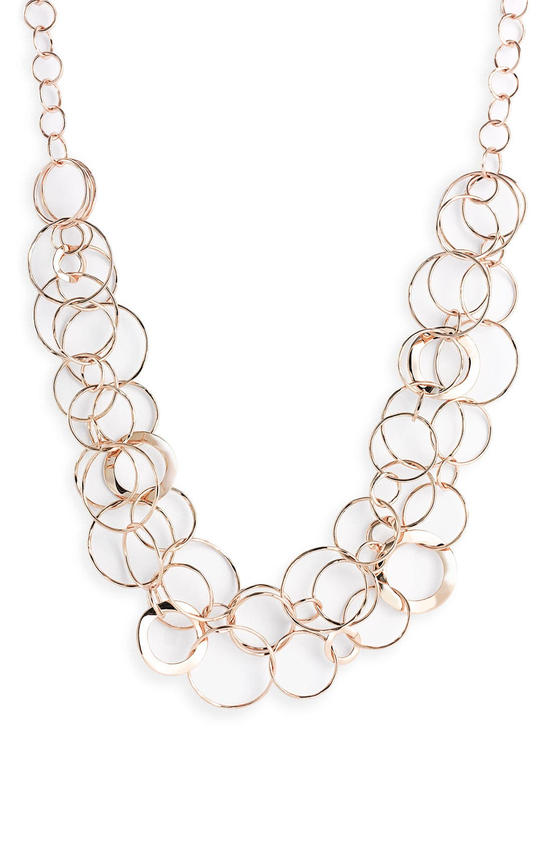Main Image - Ippolita Rosé Wavy Oval Link Necklace