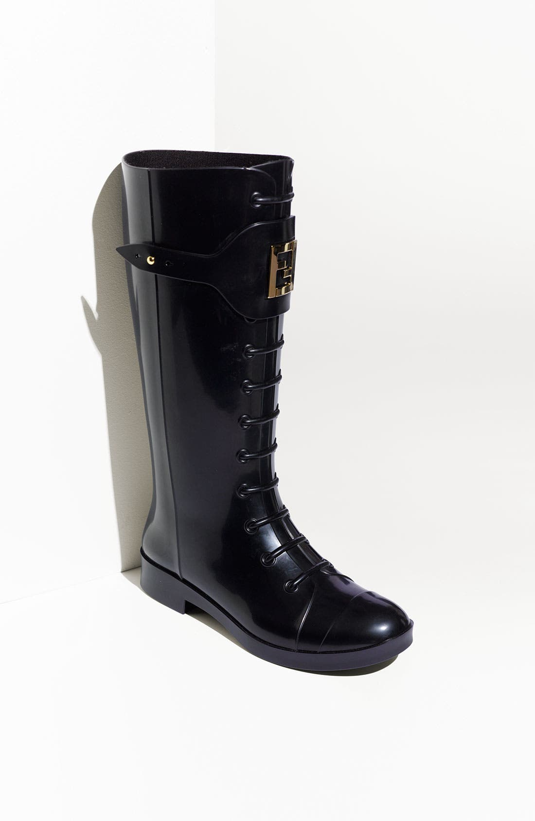 Alternate Image 1 Selected - Fendi 'Berlin' Faux Lace-Up Rain Boot