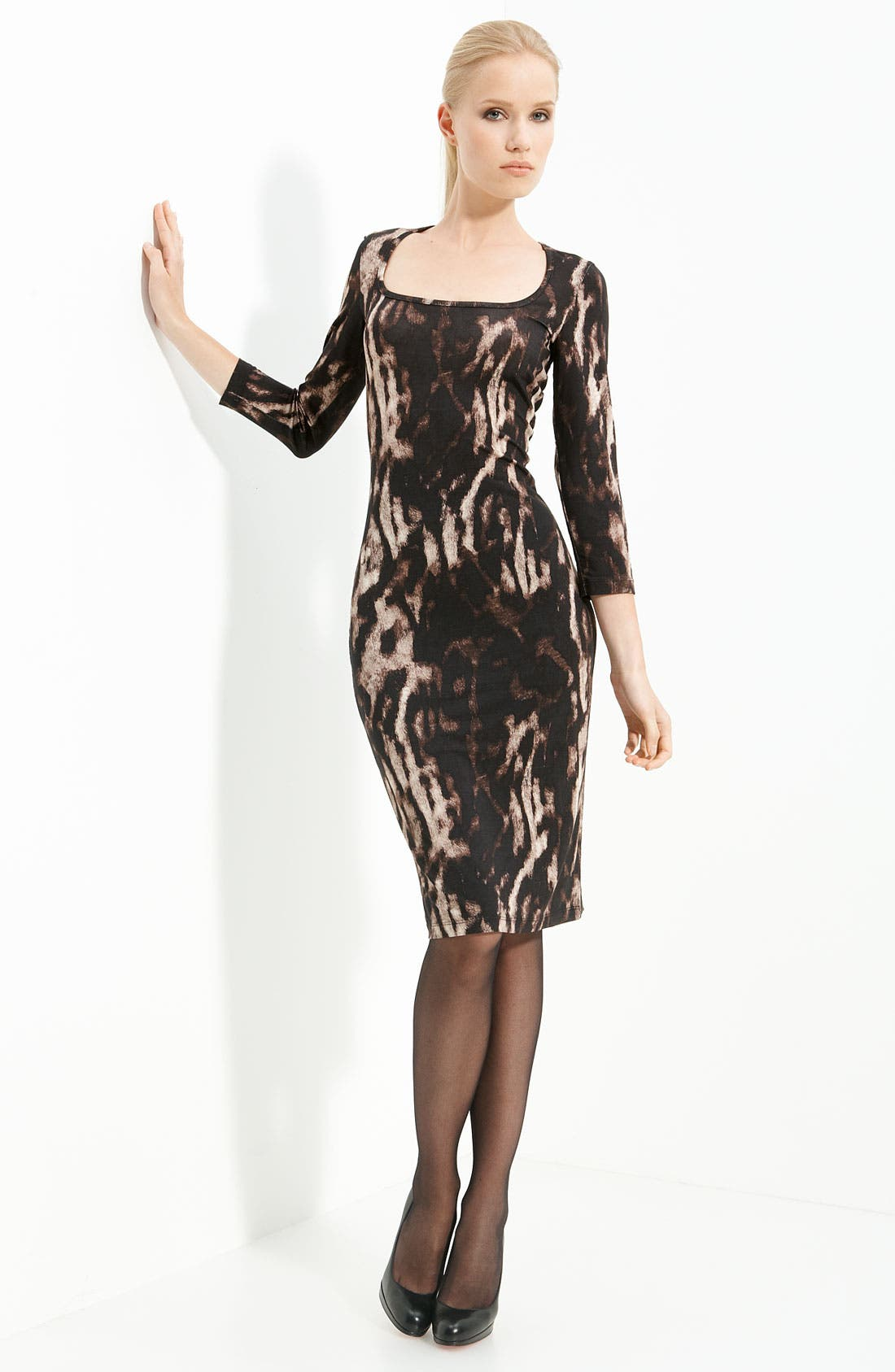 Alternate Image 1 Selected - Just Cavalli Animal Print Jersey Dress
