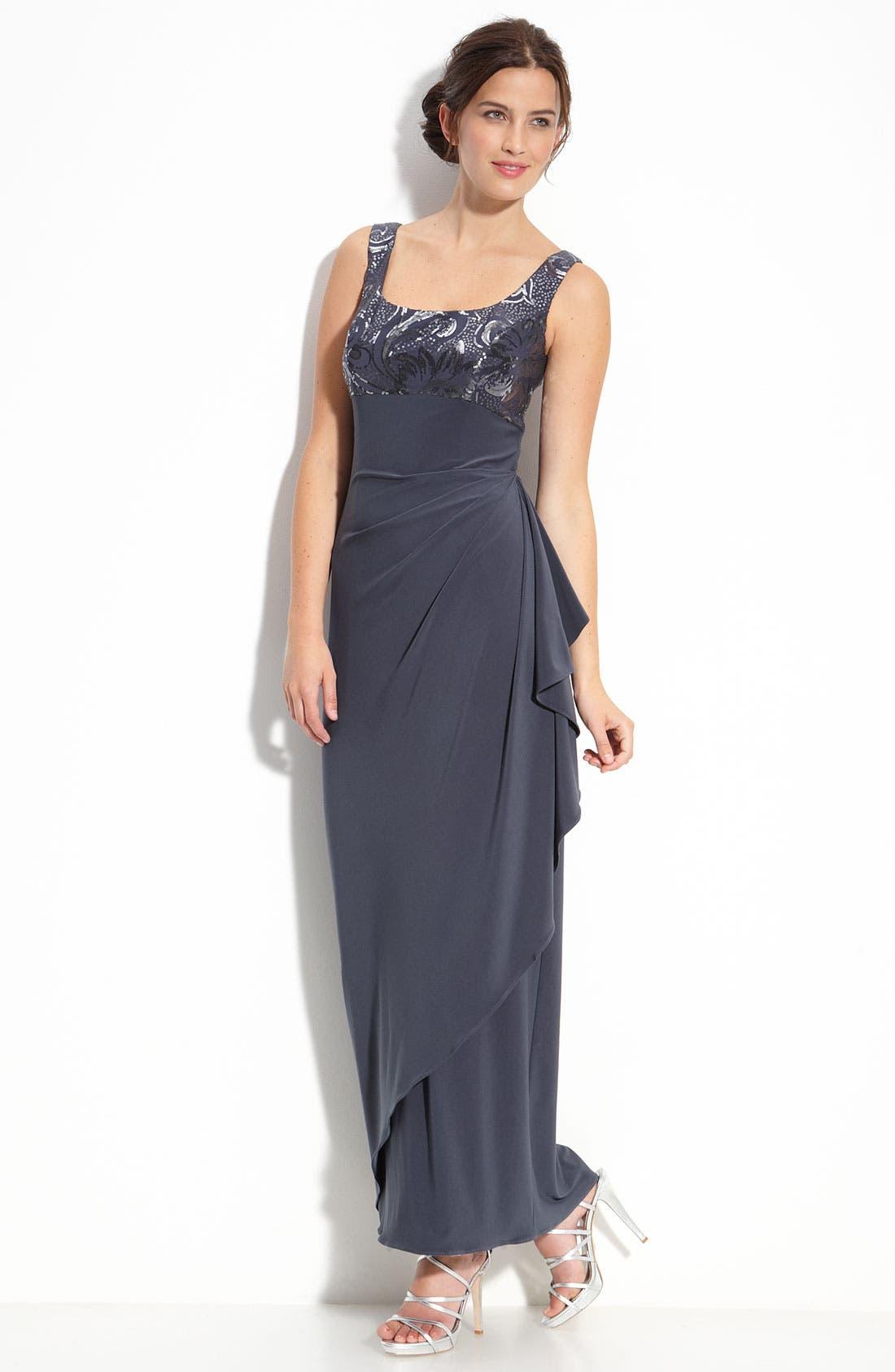 Alternate Image 2  - Alex Evenings Sequin Jersey Gown & Bolero