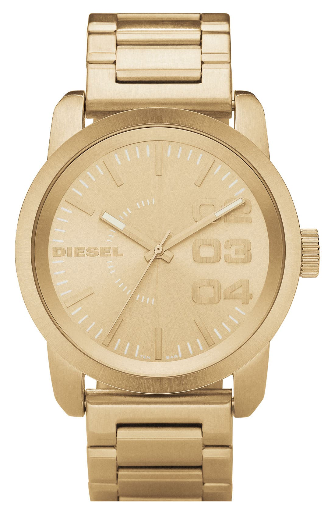 Alternate Image 1 Selected - DIESEL® 'Franchise' Round Bracelet Watch, 45mm
