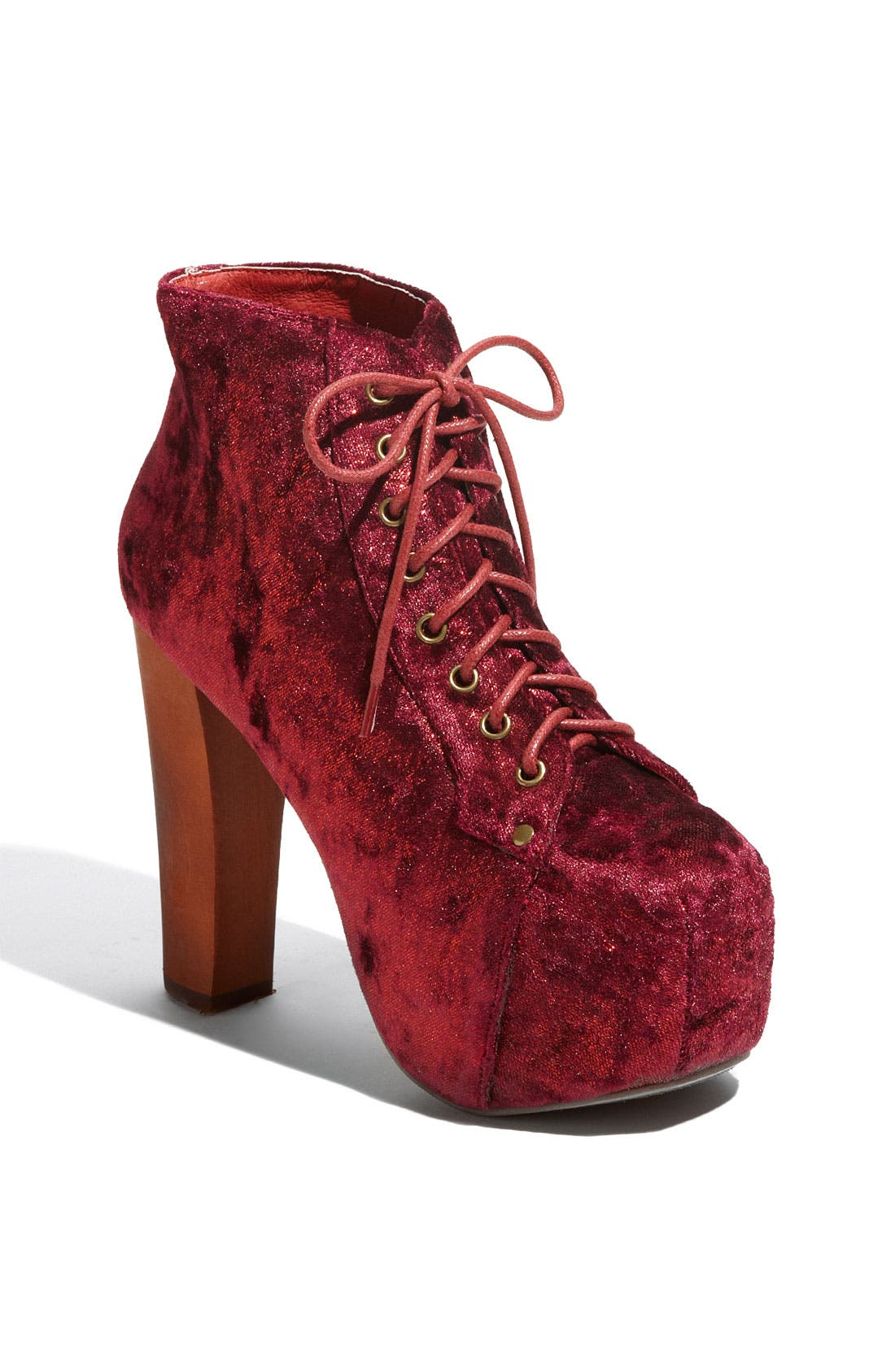 Alternate Image 1 Selected - Jeffrey Campbell 'Lita' Velvet Bootie