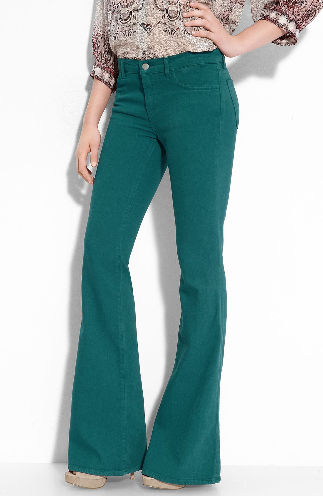 Alternate Image 1 Selected - J Brand Mid Rise Flare Leg Stretch Jeans