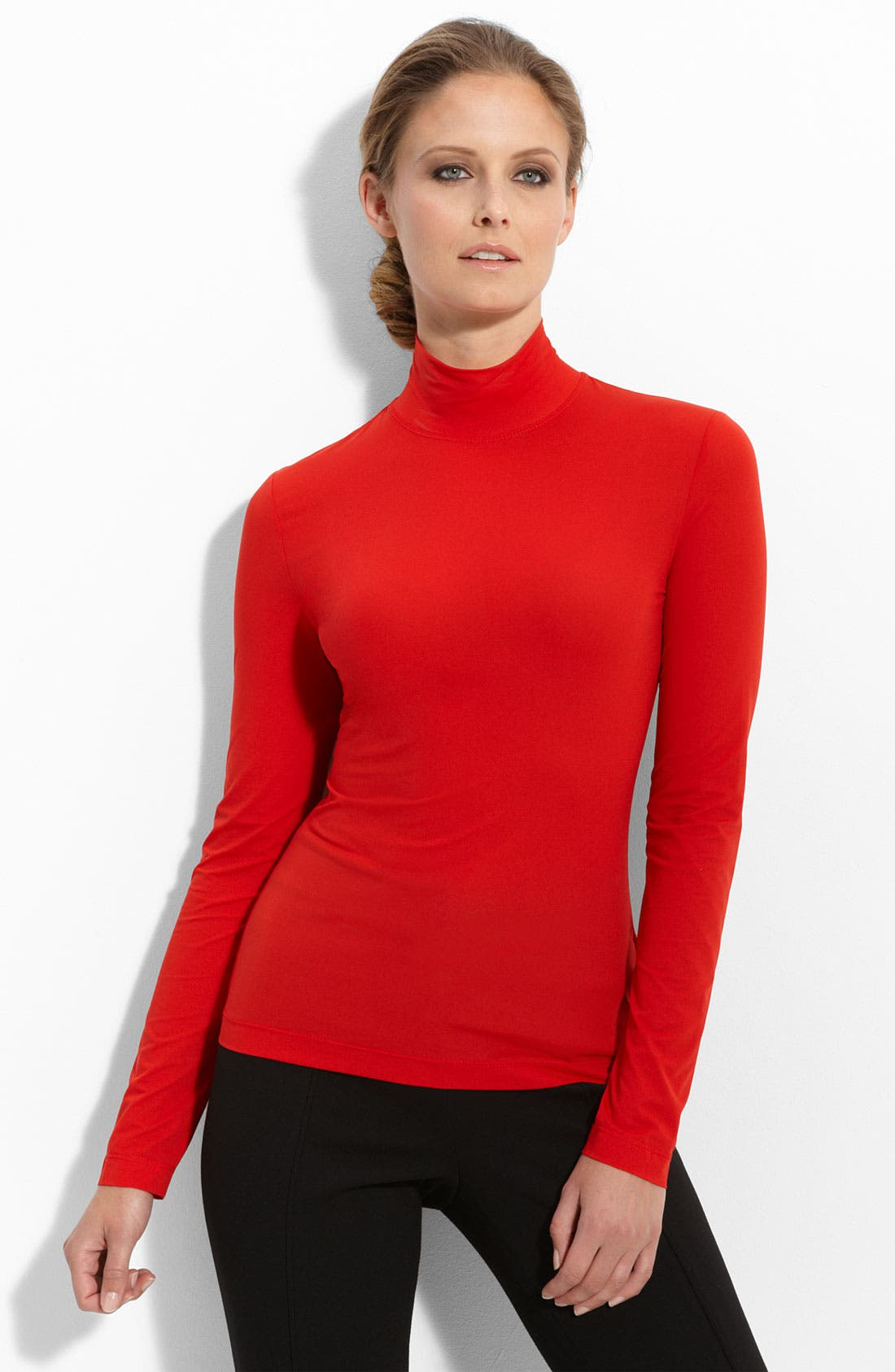 Main Image - St. John Collection 'Nuda' Fine Jersey Turtleneck Shell