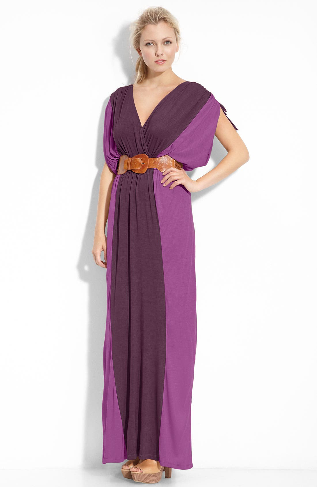 Alternate Image 1 Selected - Remain 'Vanessa' Belted Maxi Dress