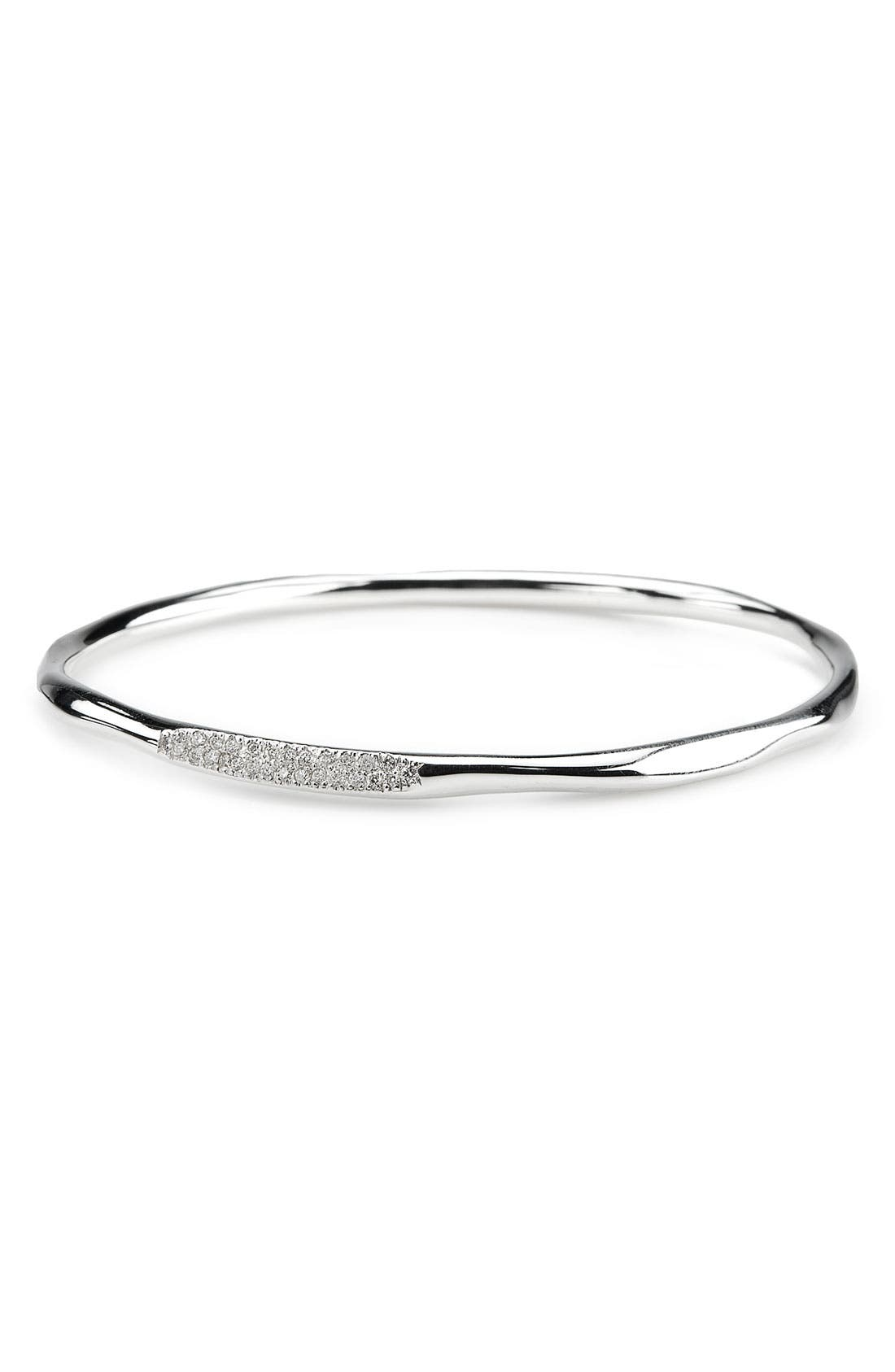 Alternate Image 1 Selected - Ippolita 'Silver Rain' Diamond Pavé Bangle