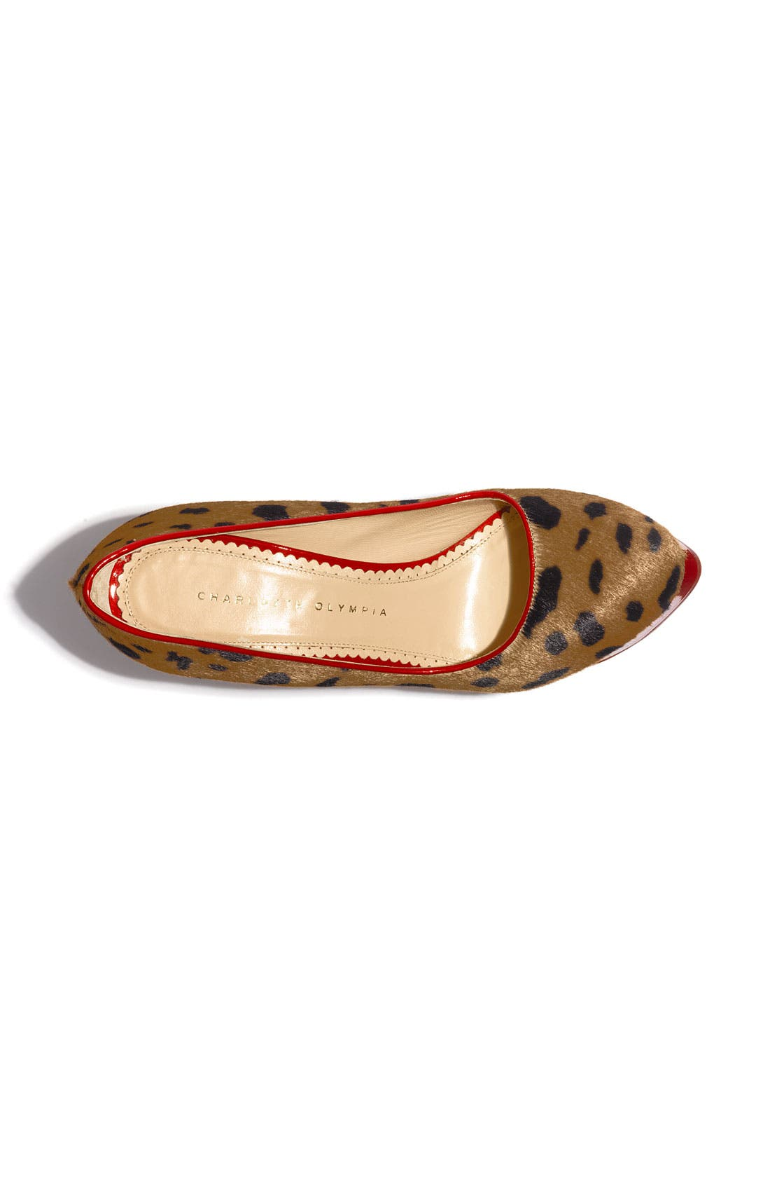 Alternate Image 3  - Charlotte Olympia 'Polly' Piped Leopard Print Calf Hair Platform Pump