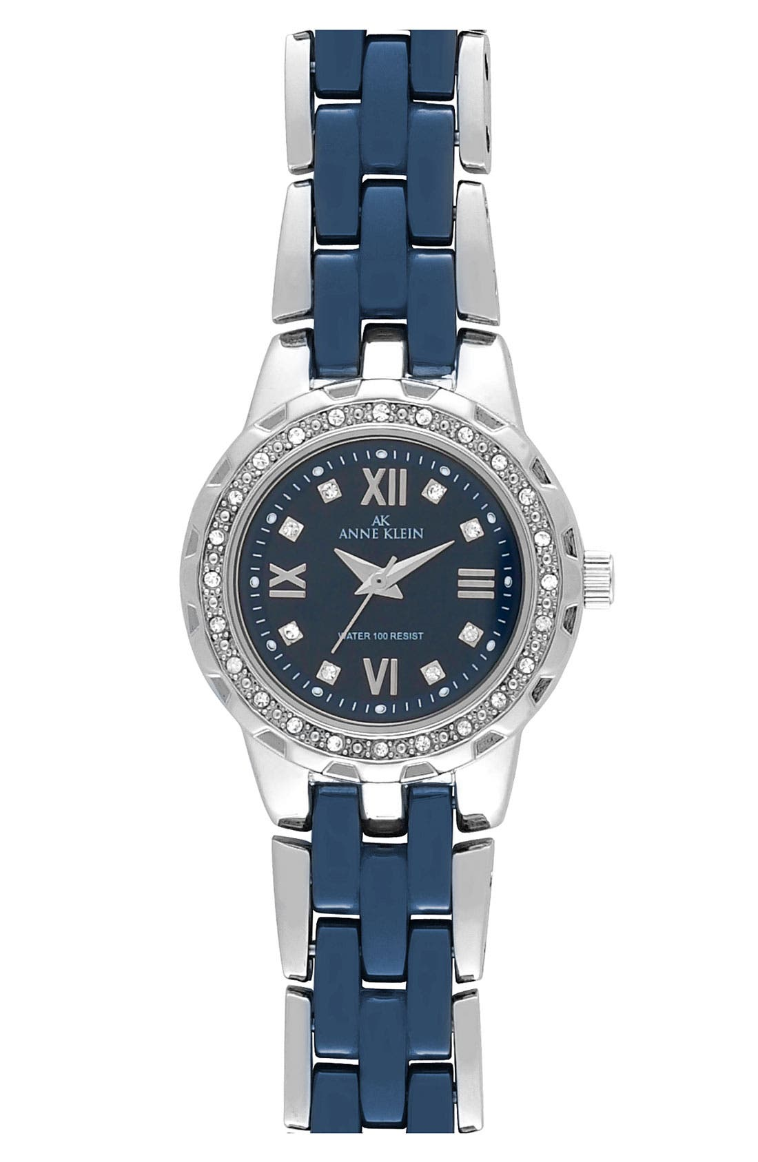 Main Image - Anne Klein Crystal & Ceramic Bracelet Watch, 25mm