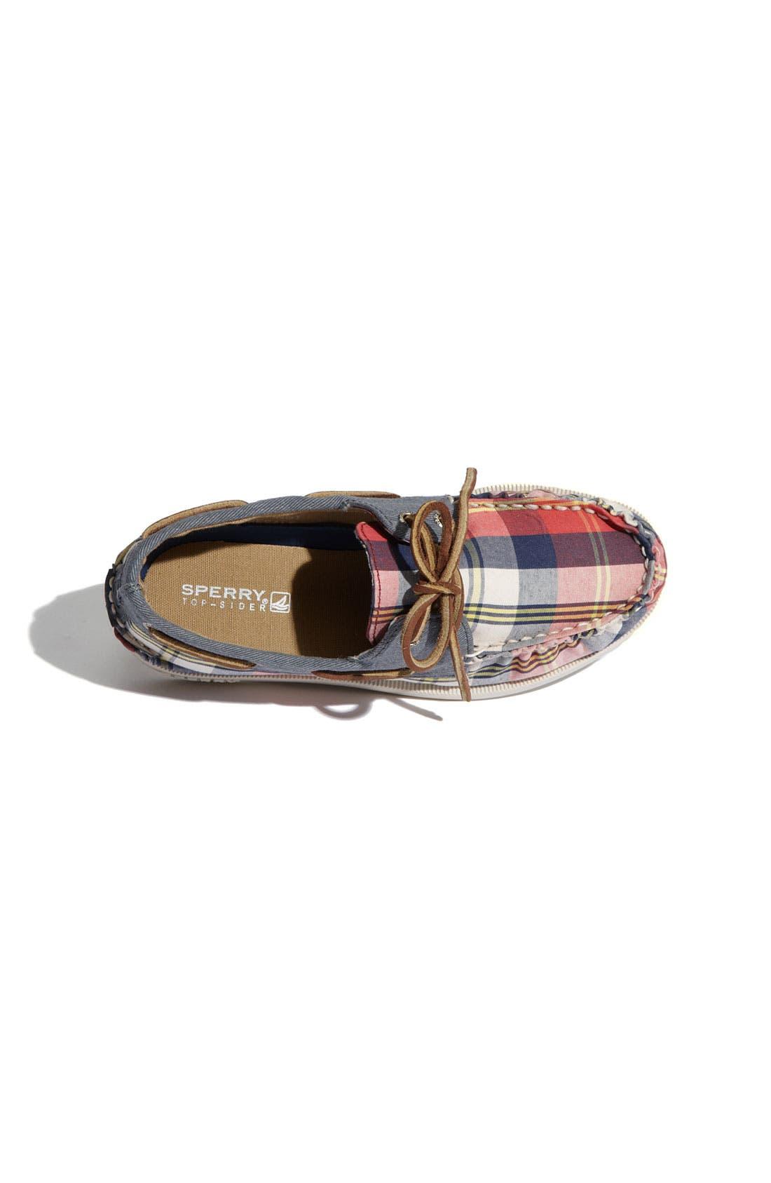 Alternate Image 3  - Sperry Top-Sider® 'Authentic Original Plaid' Boat Shoe (Walker & Toddler)