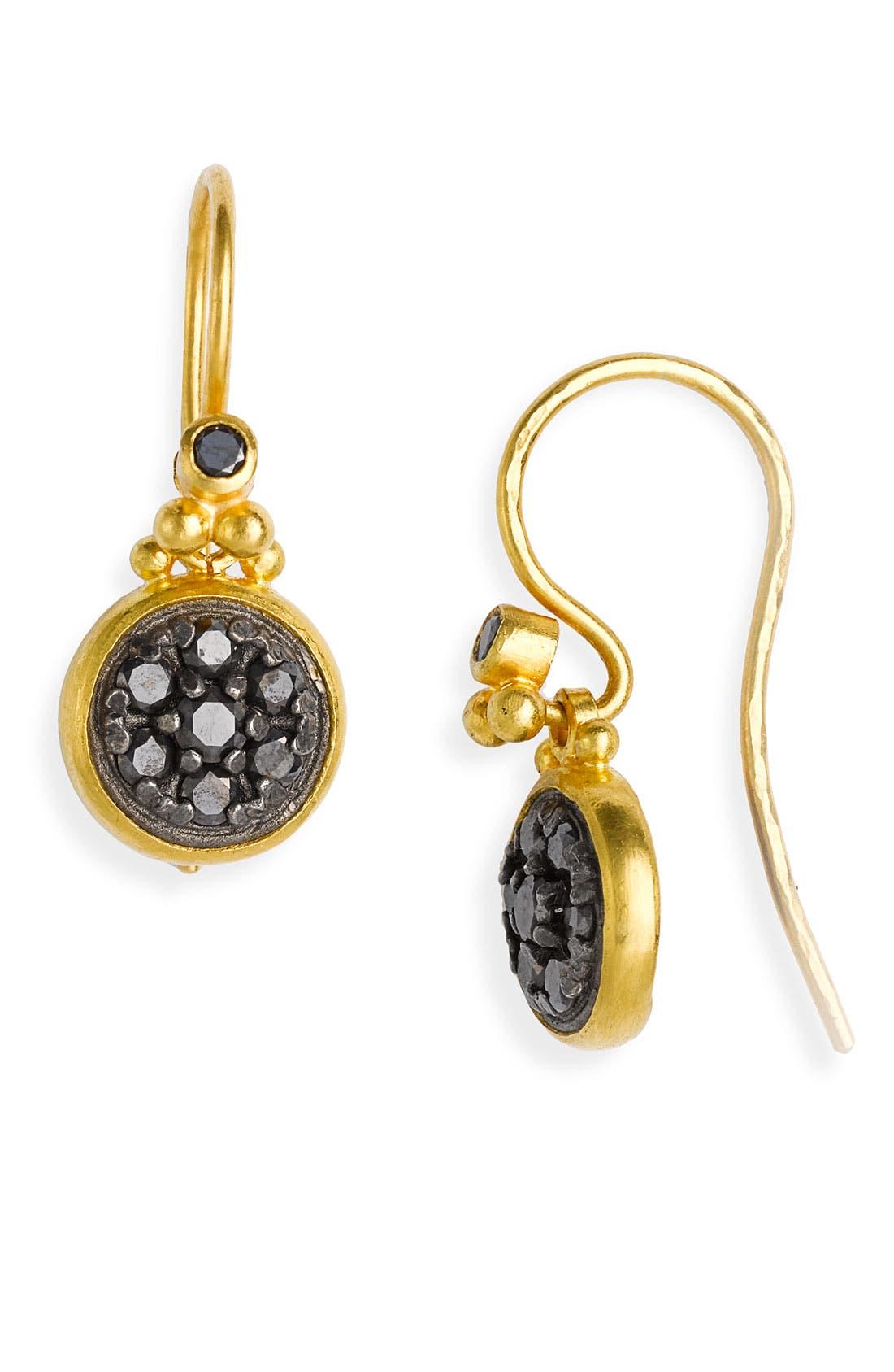 Alternate Image 1 Selected - Gurhan 'Geometry' Black Diamond Drop Earrings