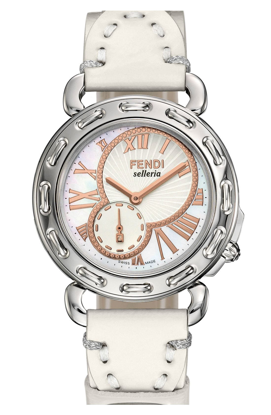 Alternate Image 2  - Fendi 'Selleria' Round Watch Case, 37mm