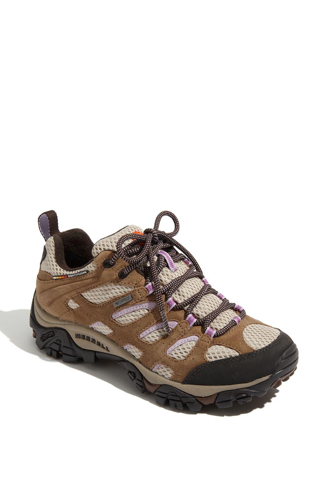 Alternate Image 1 Selected - Merrell 'Moab Waterproof' Trail Shoe (Women)
