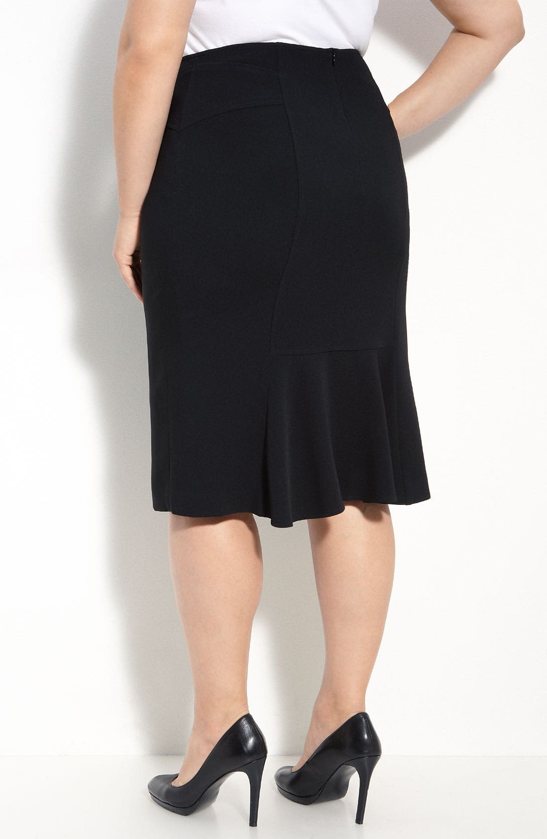 Alternate Image 2  - Louben Pencil Skirt (Plus Size)