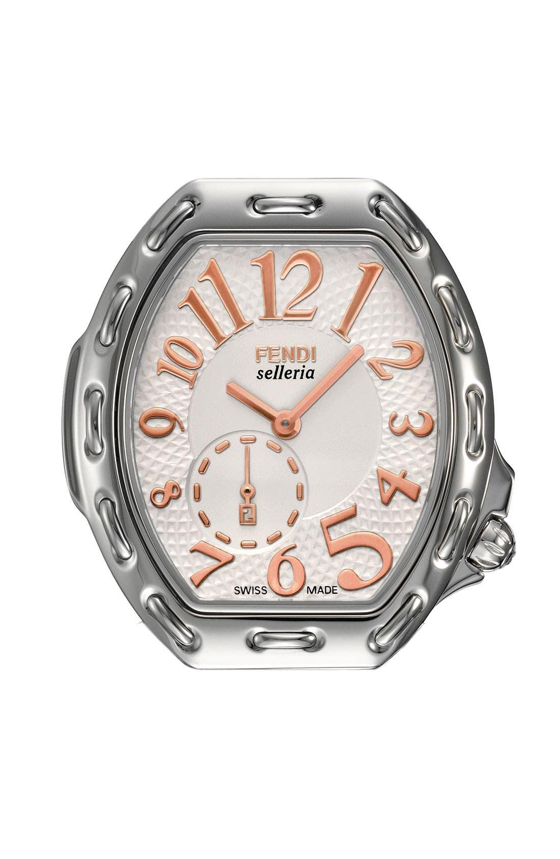 Alternate Image 1 Selected - Fendi 'Selleria' Tonneau Watch Case, 33mm x 38mm