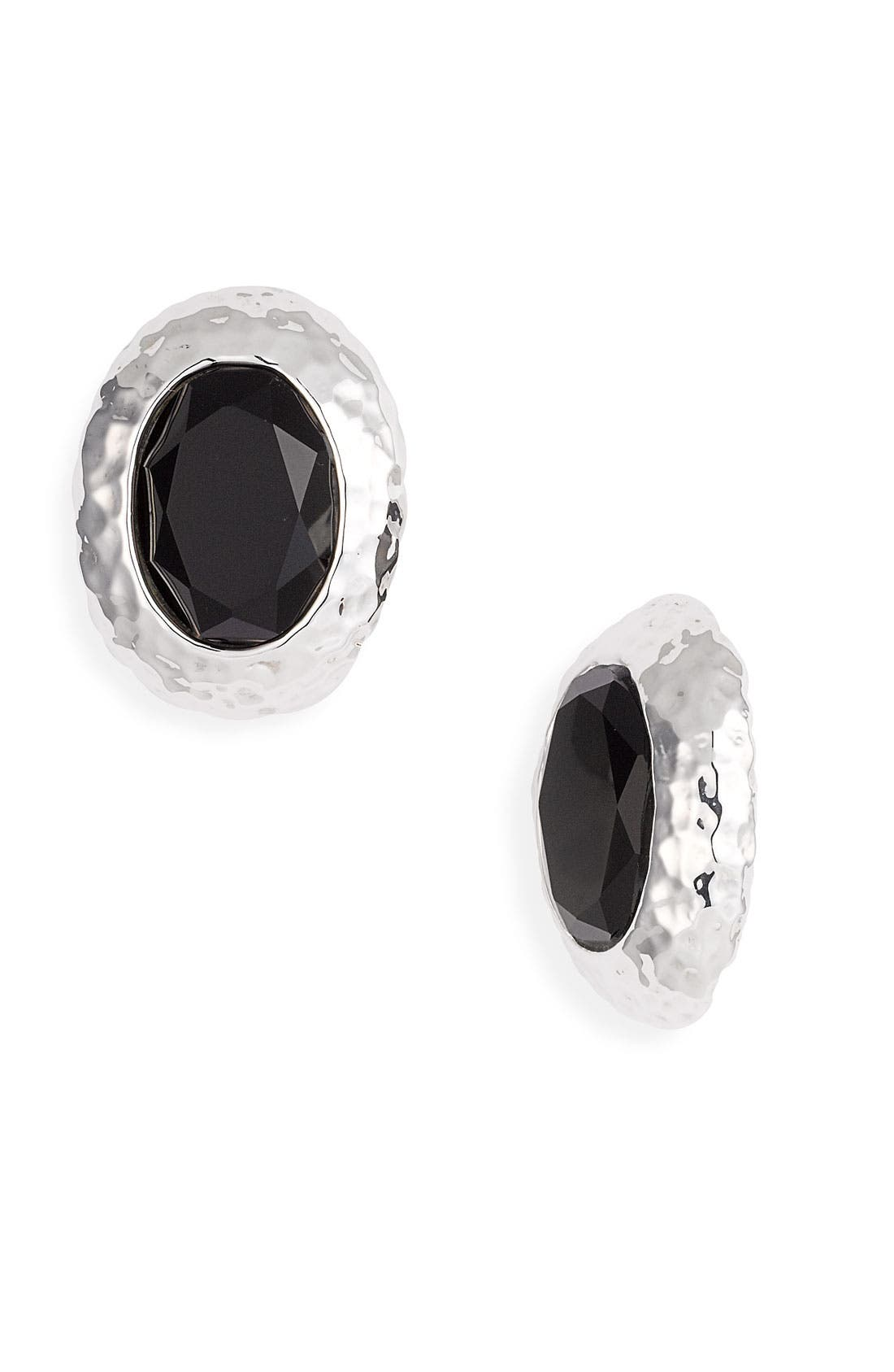 Alternate Image 1 Selected - Simon Sebbag Oval Stone Clip Earrings