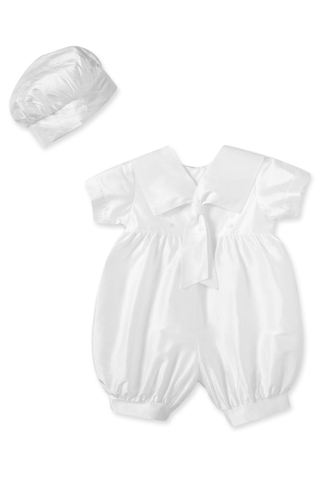 Alternate Image 1 Selected - Little Things Mean a Lot Christening Romper (Baby)