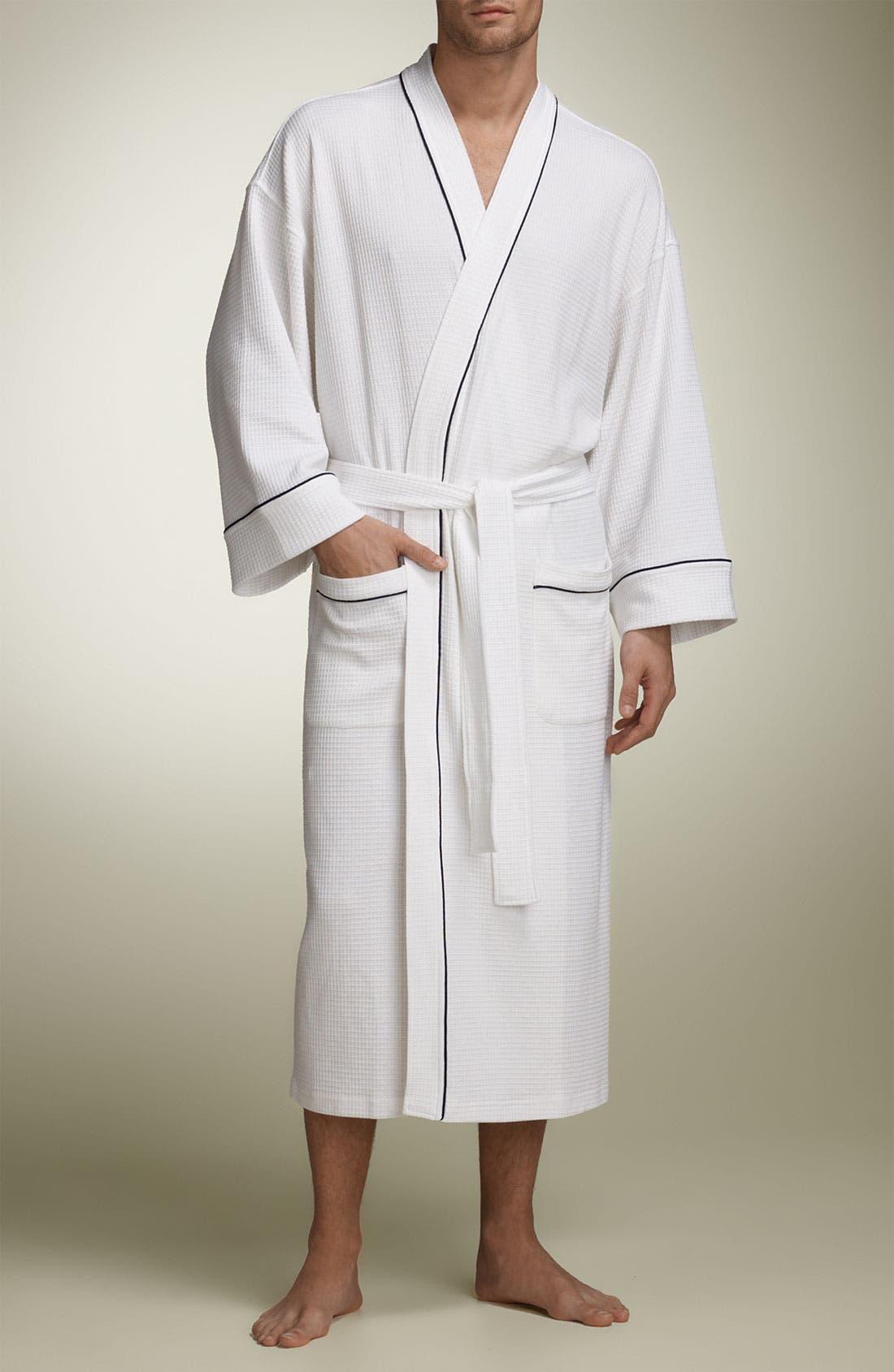 Alternate Image 1 Selected - Nordstrom Waffle Knit Kimono Robe