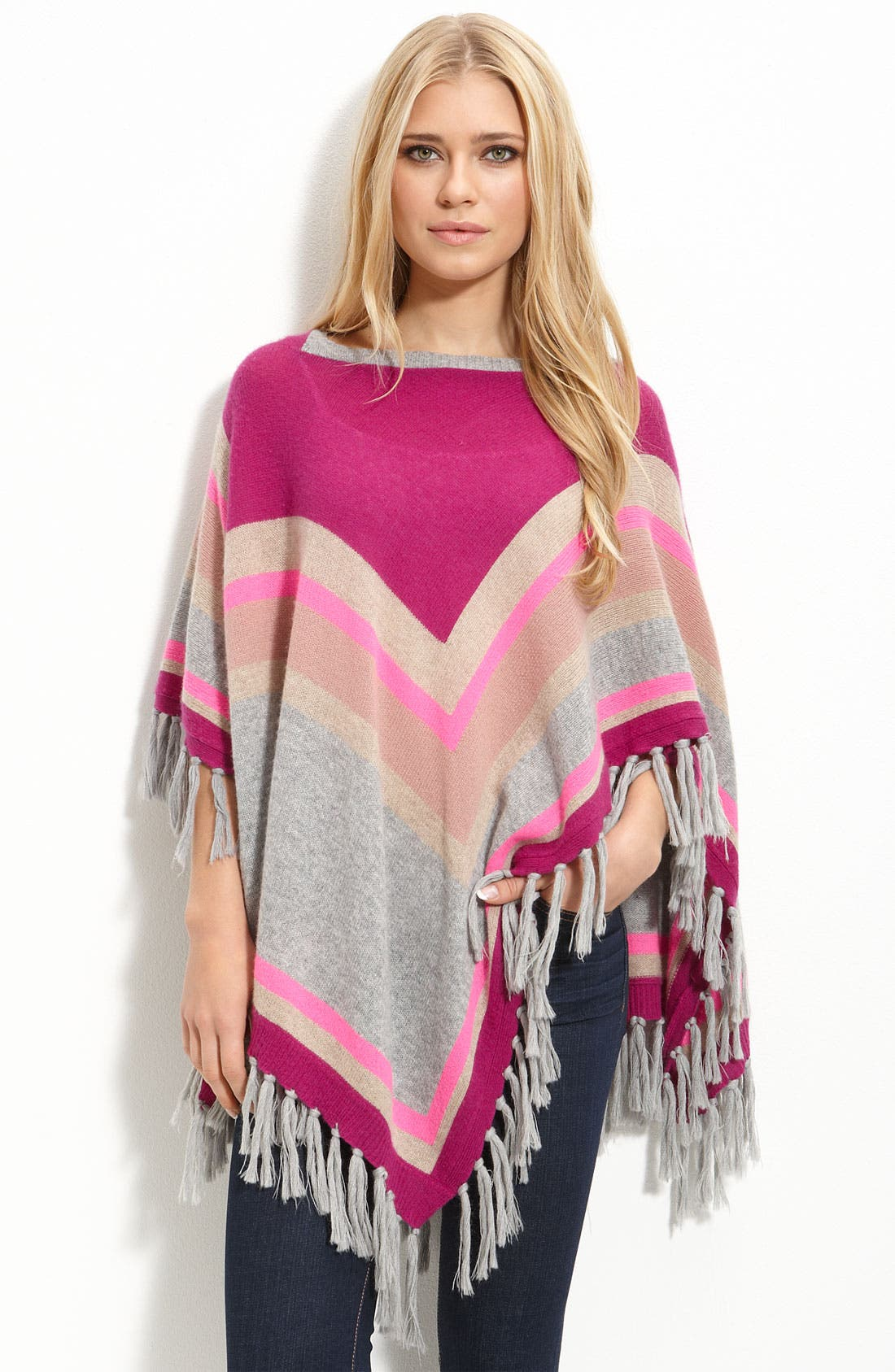 Alternate Image 1 Selected - Rebecca Taylor Striped Poncho