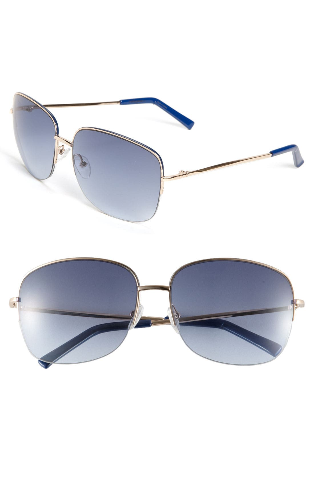 Main Image - Halogen® Semi Rimless Square Metal Sunglasses