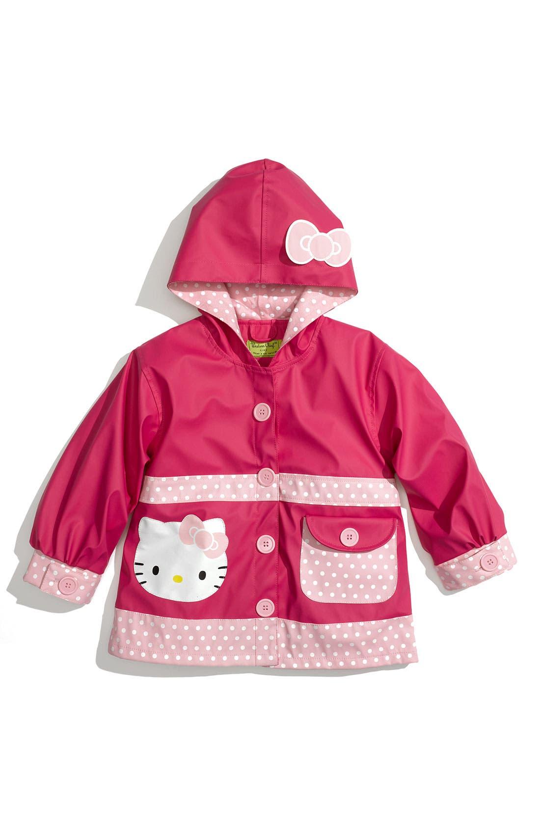 Alternate Image 1 Selected - Western Chief 'Hello Kitty® Ruffles' Raincoat (Toddler Girls & Little Girls)