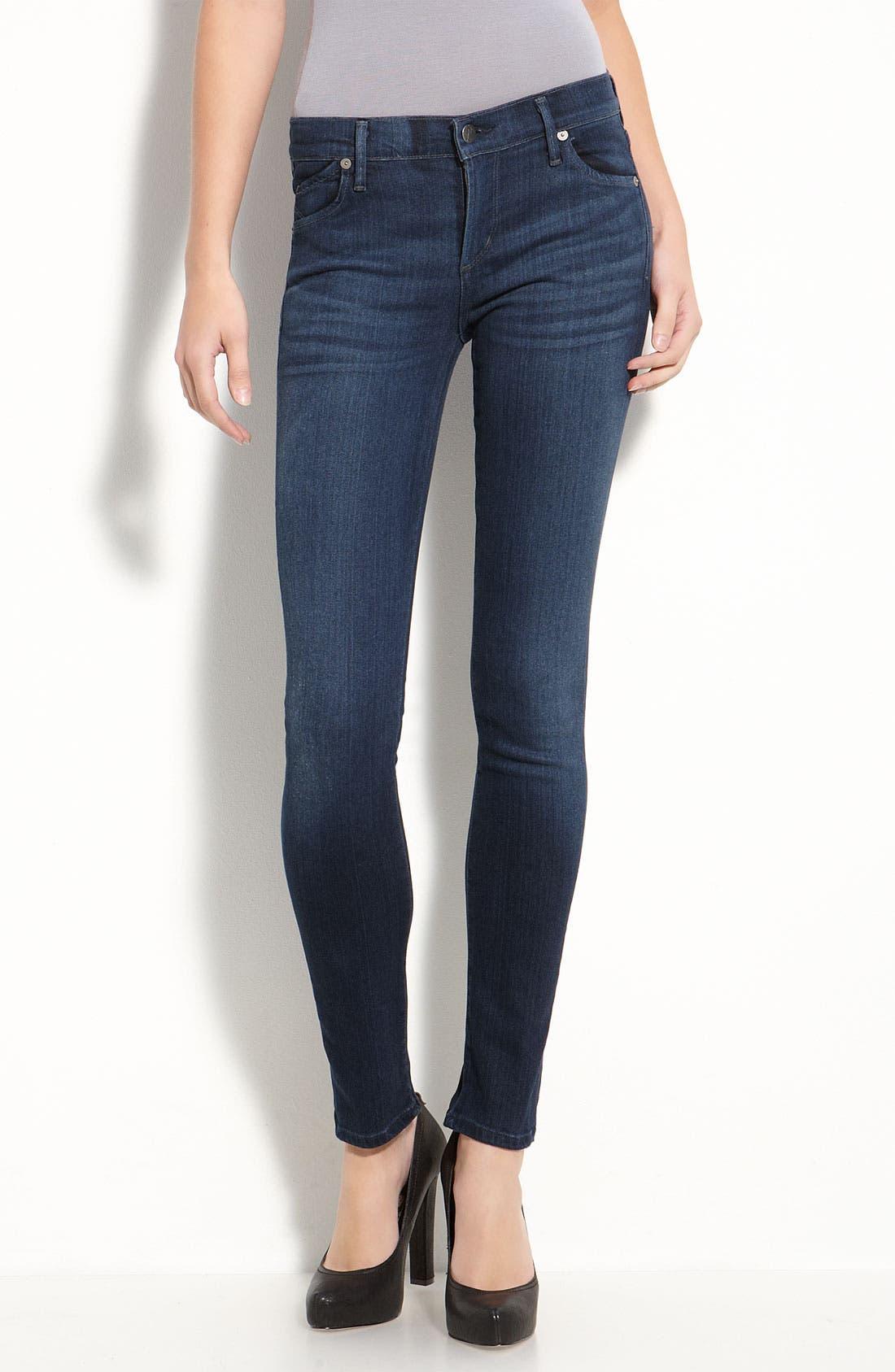 Alternate Image 2  - Citizens of Humanity 'Second Skin' Stretch Denim Jeans (Satellite Wash)