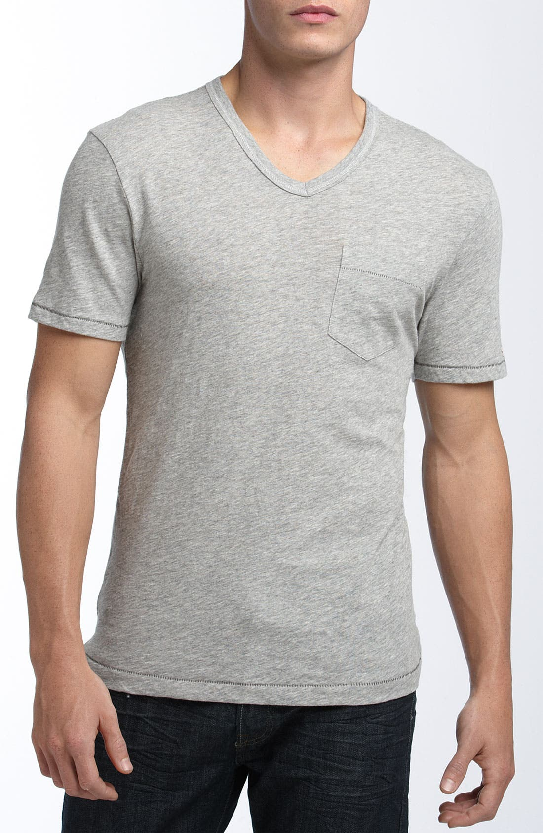 Main Image - Original Penguin Trim Fit Heathered V-Neck T-Shirt