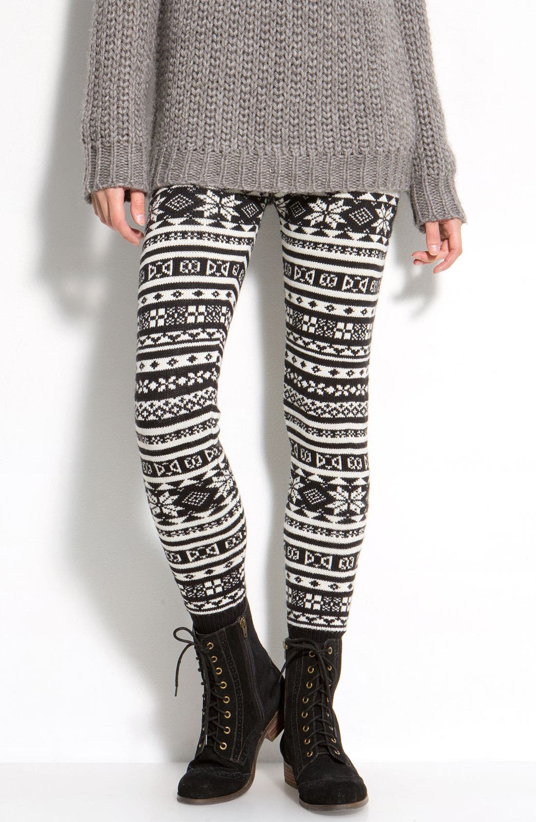 Main Image - Hue Nordic Jacquard Sweater Leggings