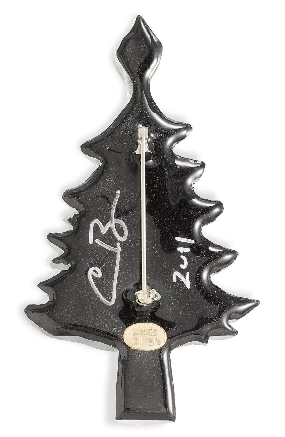 Alternate Image 2  - Alexis Bittar Signed Christmas Tree Pin (Nordstrom Exclusive)