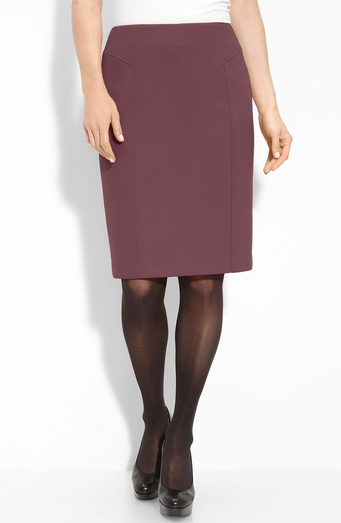 Alternate Image 1 Selected - Halogen® Seamed Pencil Skirt